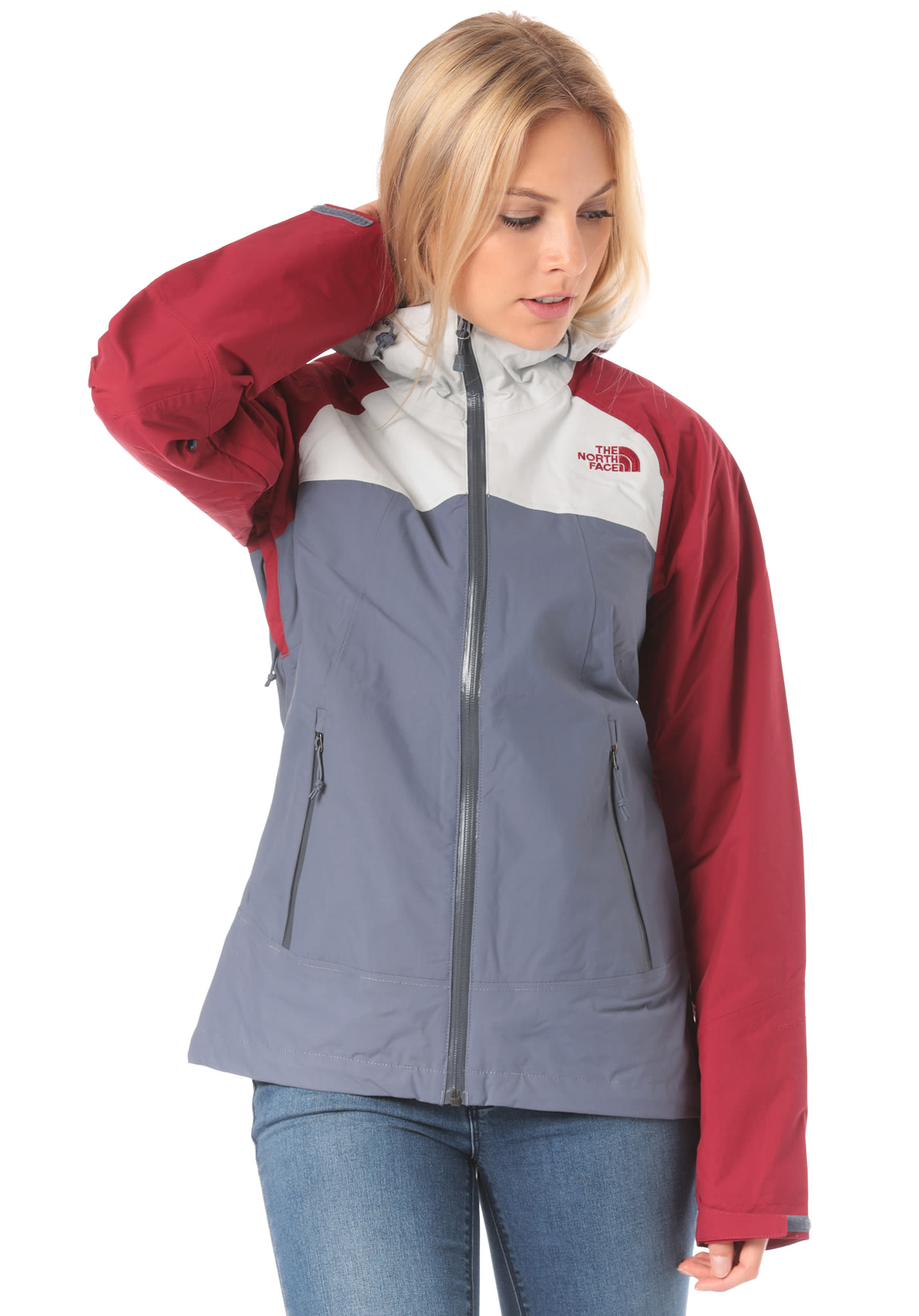 f4b4e327ae73 THE NORTH FACE Stratos - Functional Jacket for Women - Grey - Planet Sports