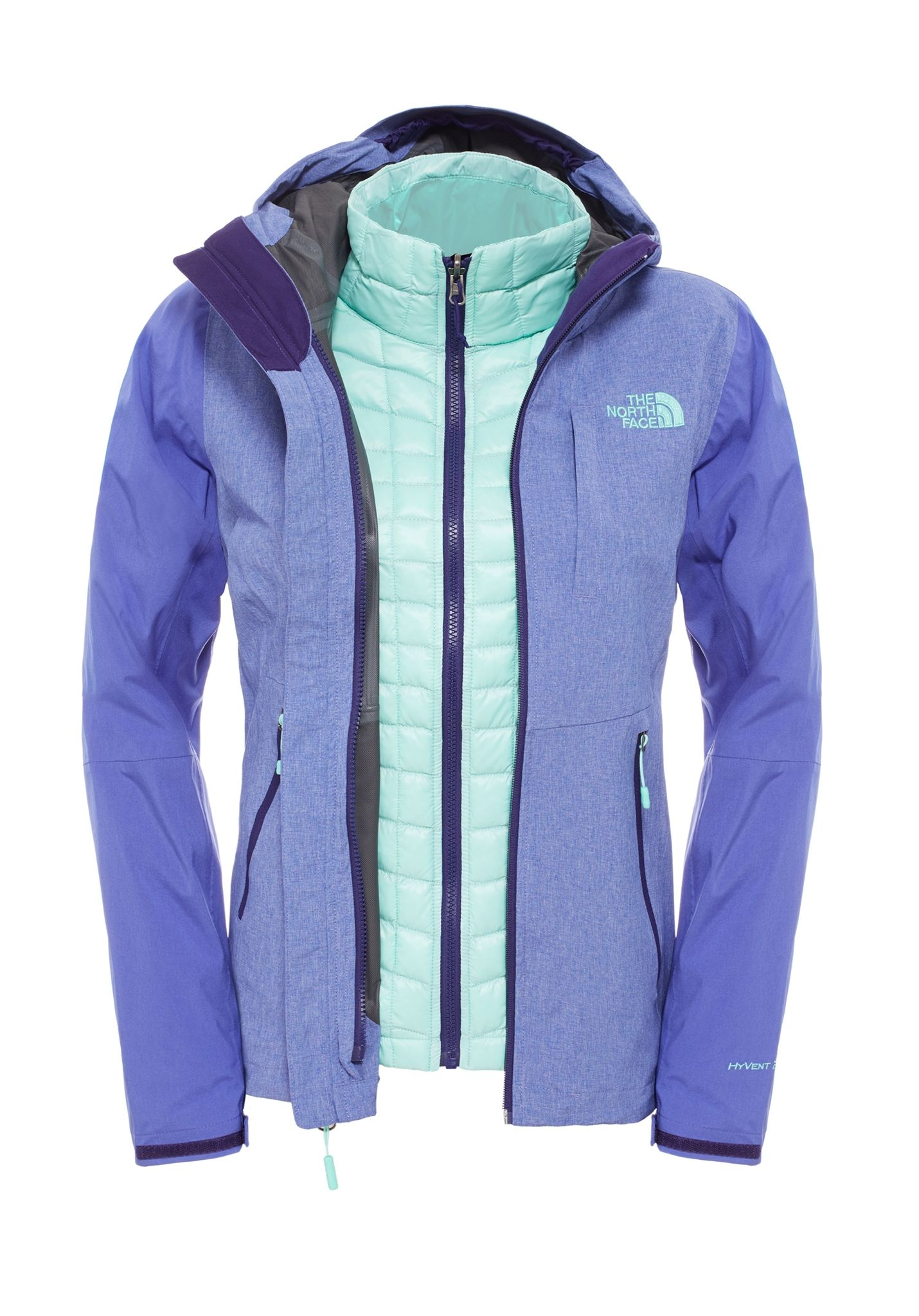 THE NORTH FACE Thermoball Triclimate - Chaqueta funcional para Mujeres -  Verde - Planet Sports 0cfdbcaa95902