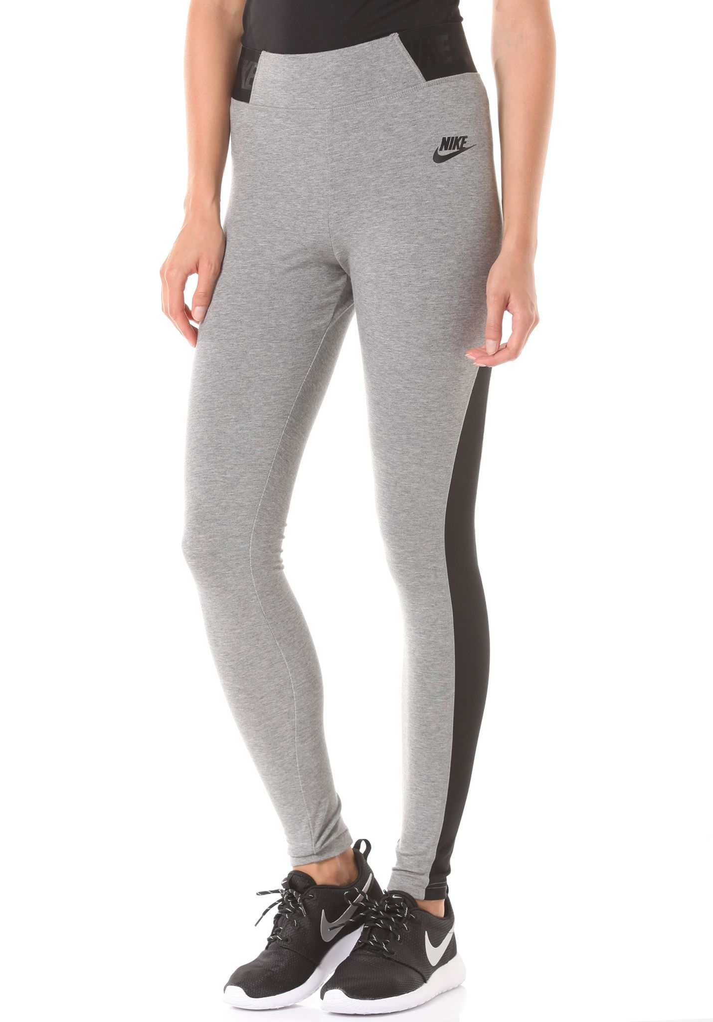 048a444b8cee3 NIKE SPORTSWEAR HTR T2 - Leggings for Women - Grey - Planet Sports