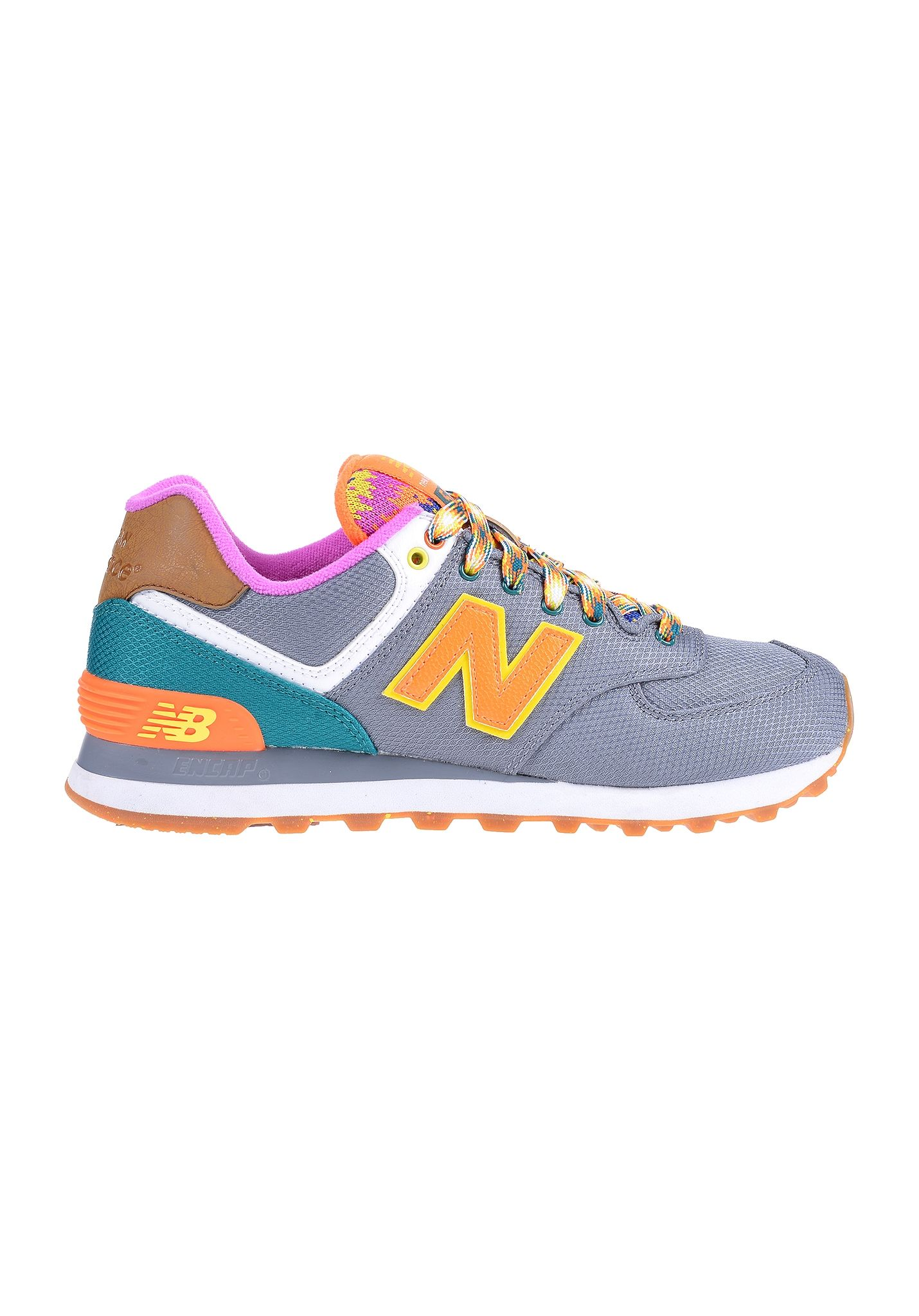 New Balance 574 Grise Orange