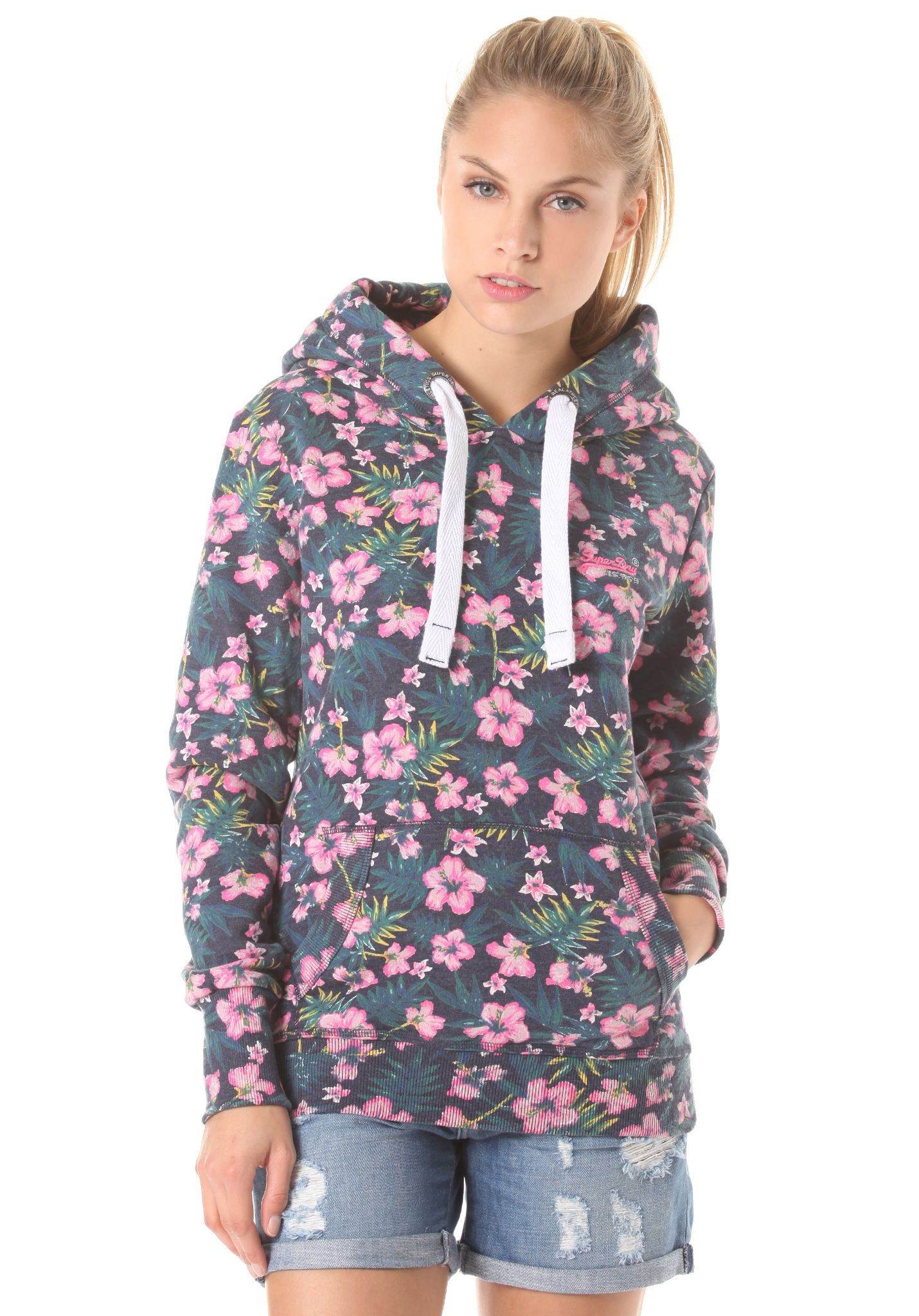 Superdry Hoodie Damen Pink Brick Lane Studios York