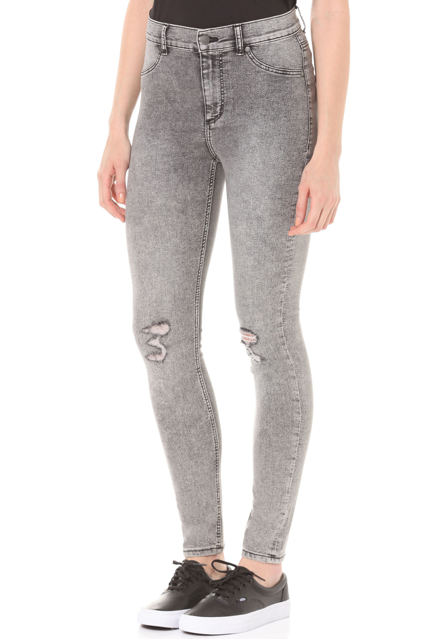 Cheap Monday High Spray - Denim Jeans for Women - Grey - Planet Sports