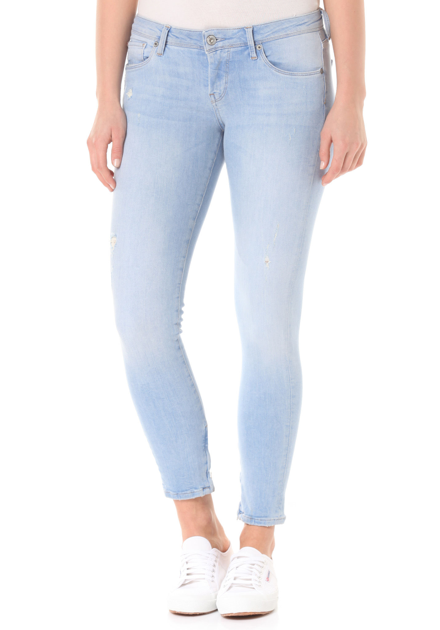 PEPE JEANS Cher - Denim Jeans for Women - Blue - Planet Sports