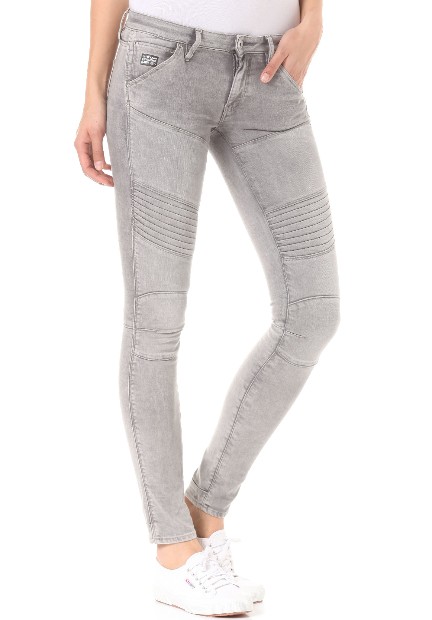 G-STAR 5620 Custom Mid Skinny Kamden Grey Superstretch - Denim ...
