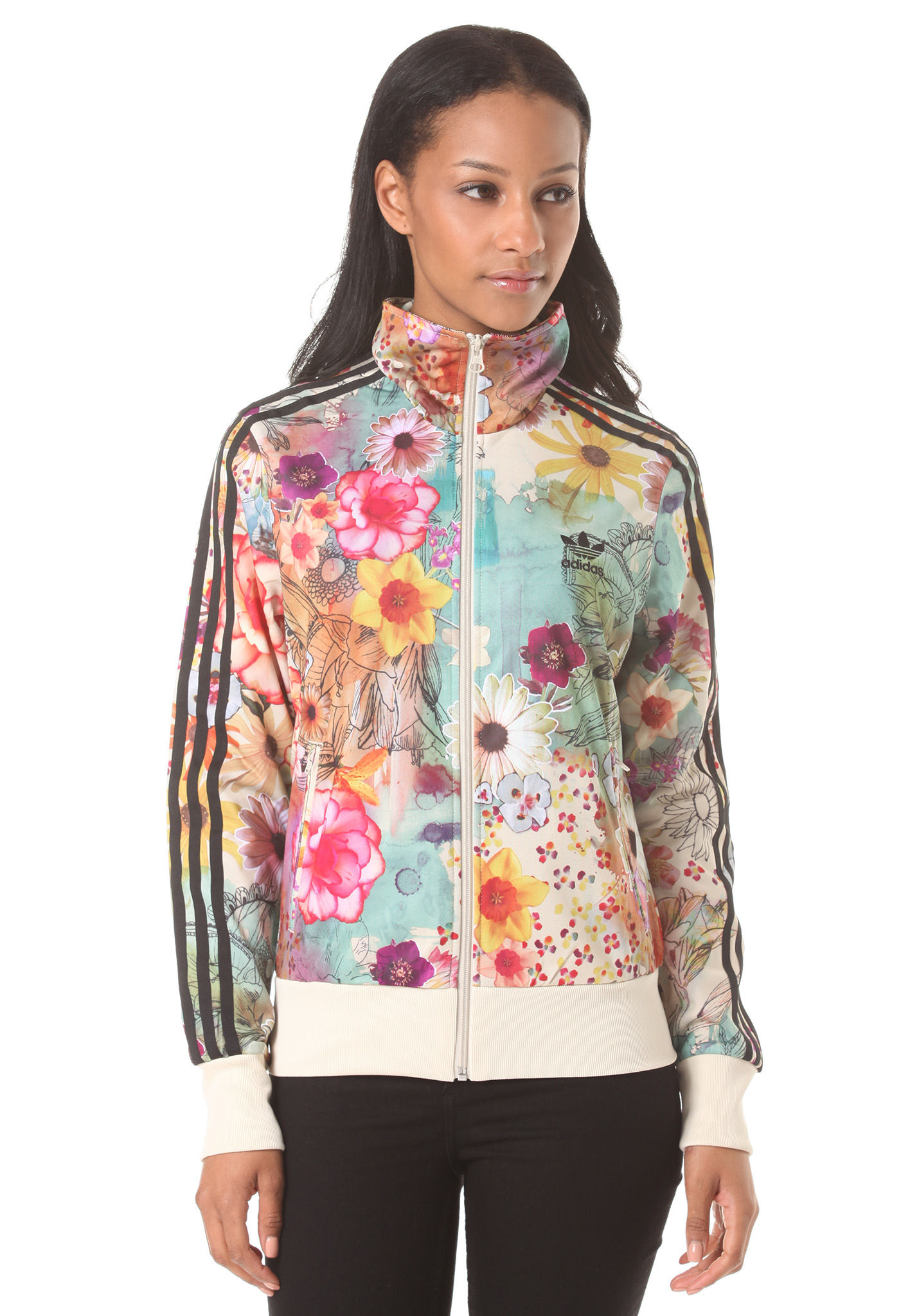 multi coloured adidas jacket