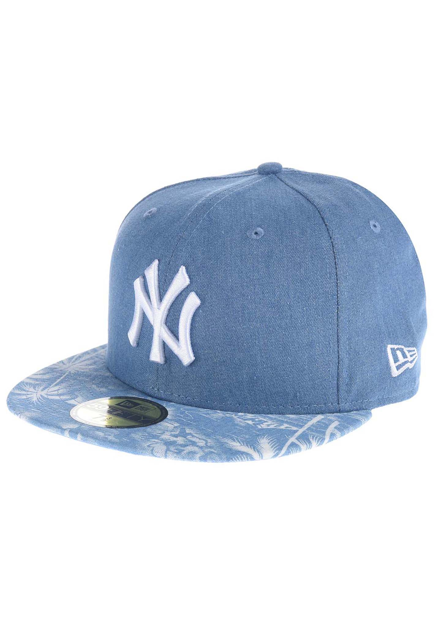 d62c206529b NEW Era Den Palm Fitted NY Yankees - Fitted Cap - Blue - Planet Sports