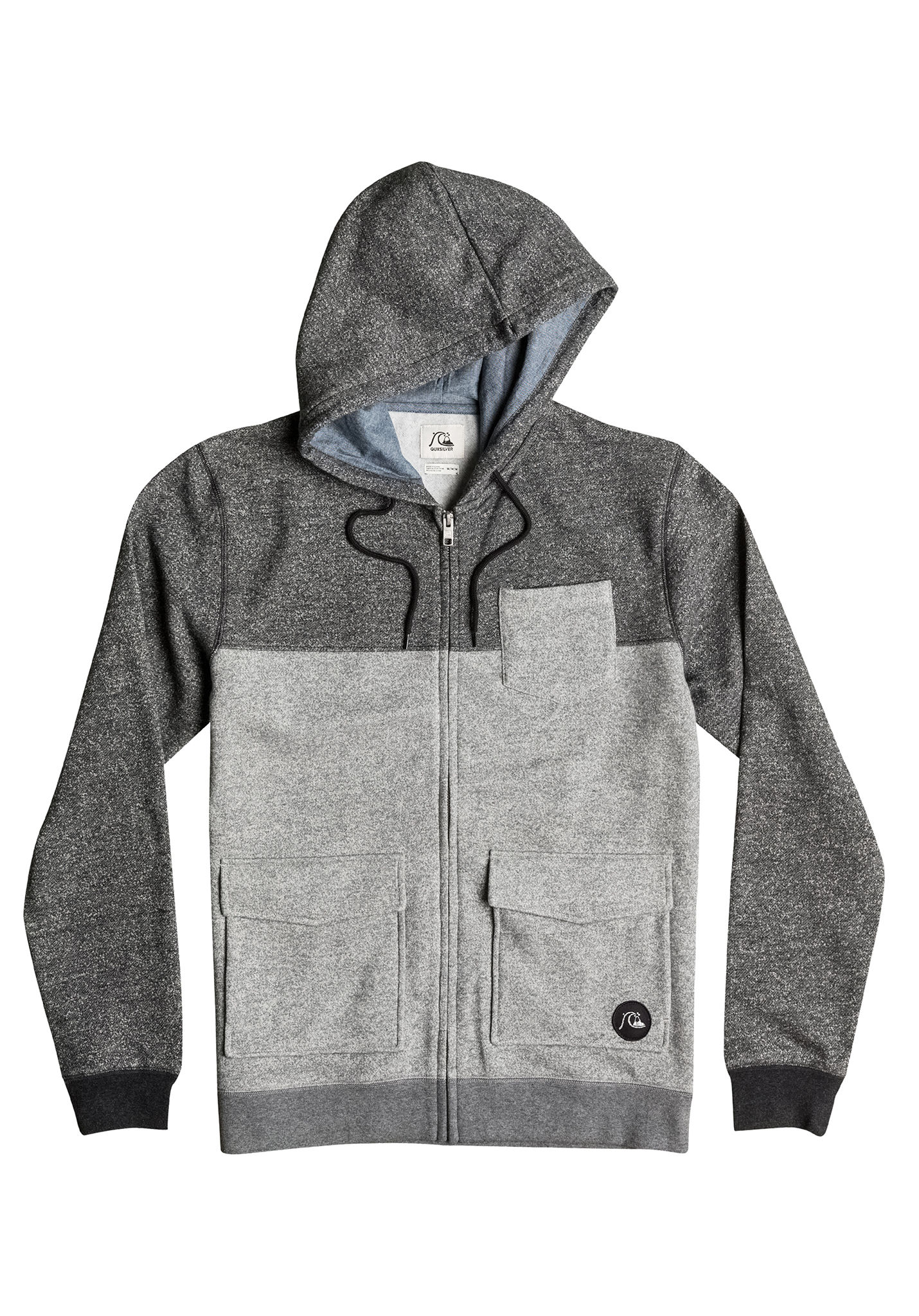 Quiksilver Dark Voices - Hooded Jacket for Men - Grey - Planet Sports 689b887b6ef