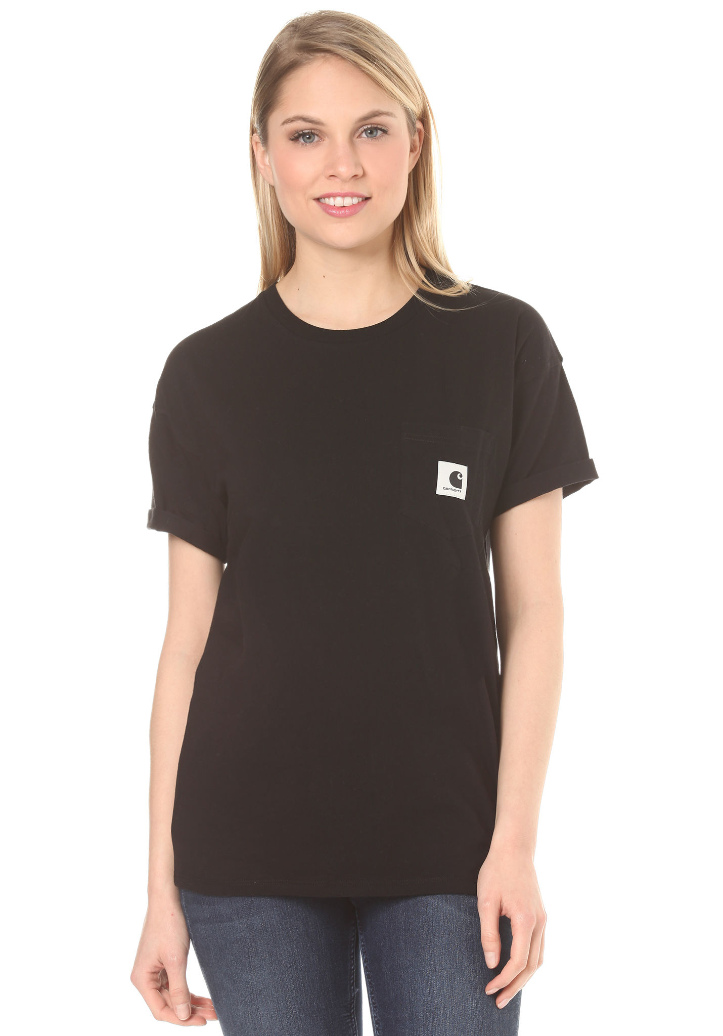 carhartt WIP Carrie Pocket - T-Shirt for Women - Black - Planet Sports 860860fc7