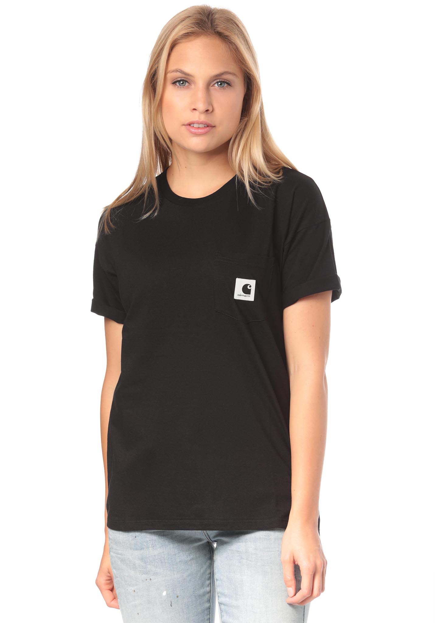 carhartt WIP Carrie Pocket - T-Shirt for Women - Black - Planet Sports a916446028