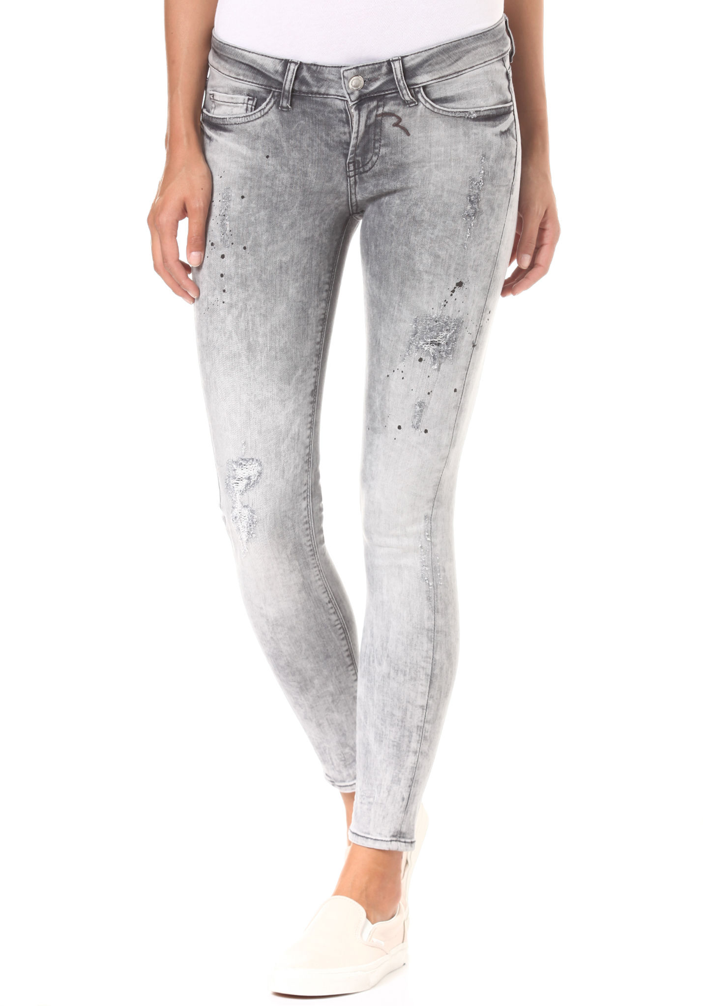 Rich   Royal Super Skinny - Painted Grey - Jeans für Damen - Grau - Planet  Sports ad1234e5c1