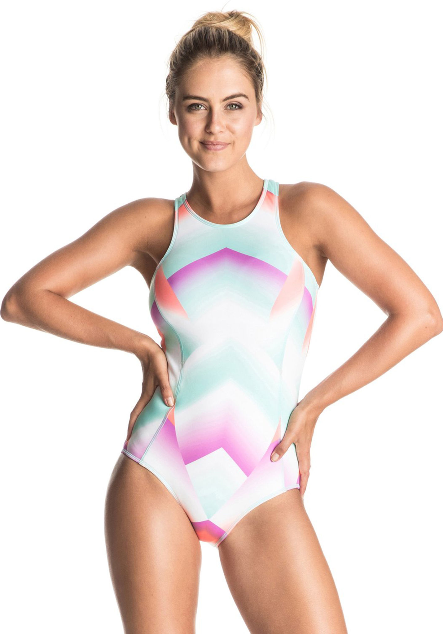 d1f99f31d2 Roxy Pop Surf - One-piece Swimsuit for Women - Pink - Planet Sports