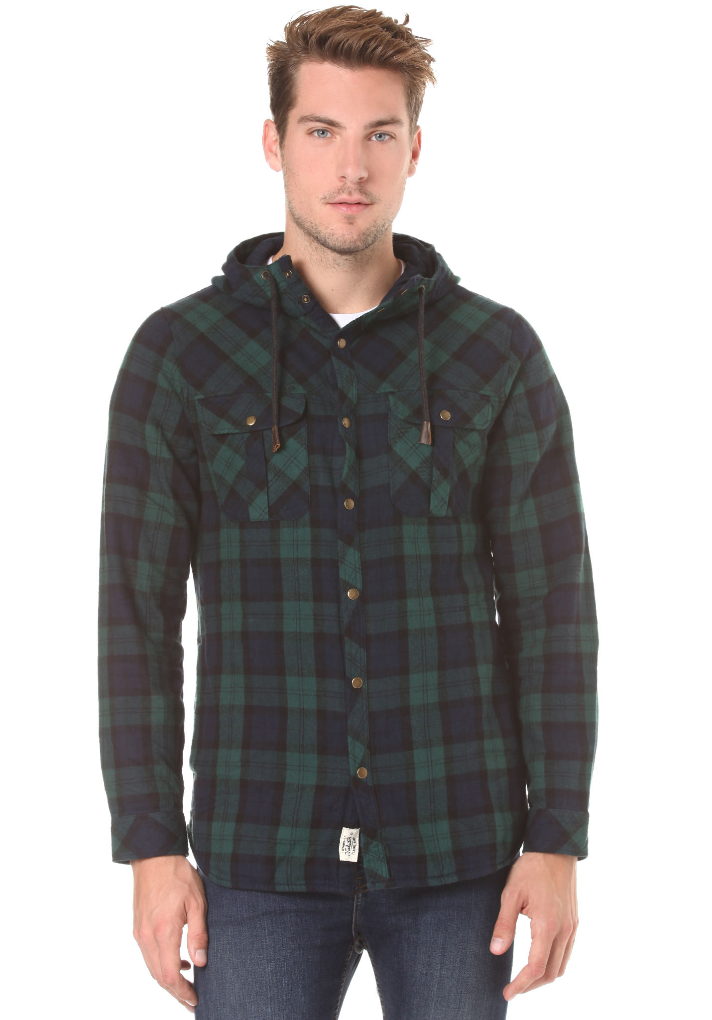 O'Neill Violator Hooded Flannel - Shirt for Men - Green - Planet ...