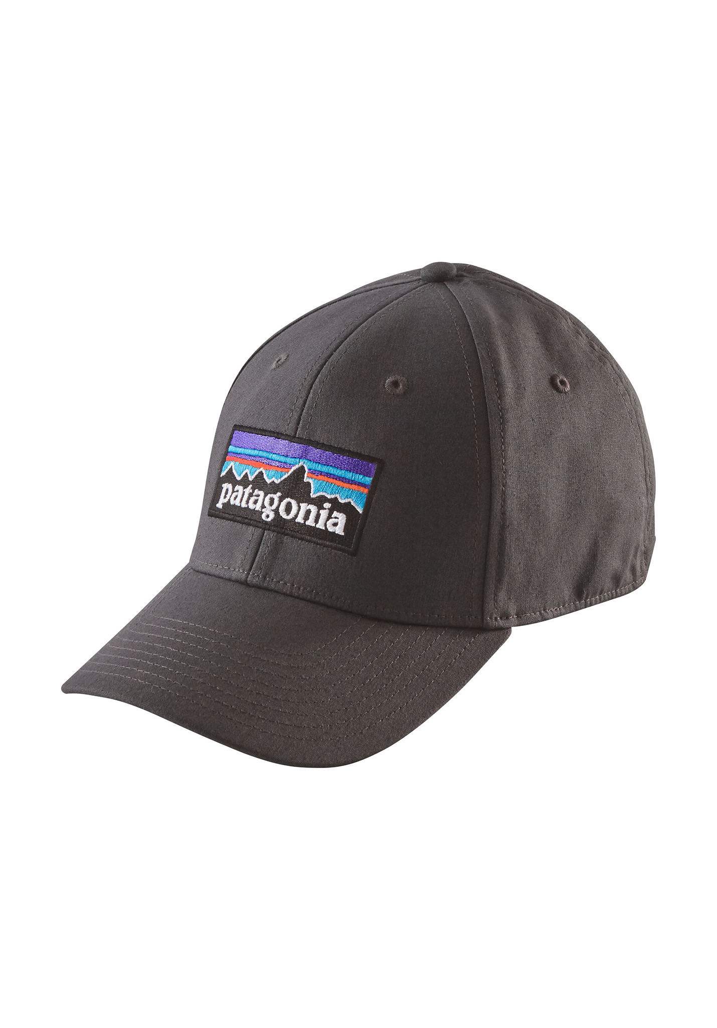5f78ed98494 PATAGONIA P-6 Logo Stretch Fit - Flexfit Cap - Grey - Planet Sports