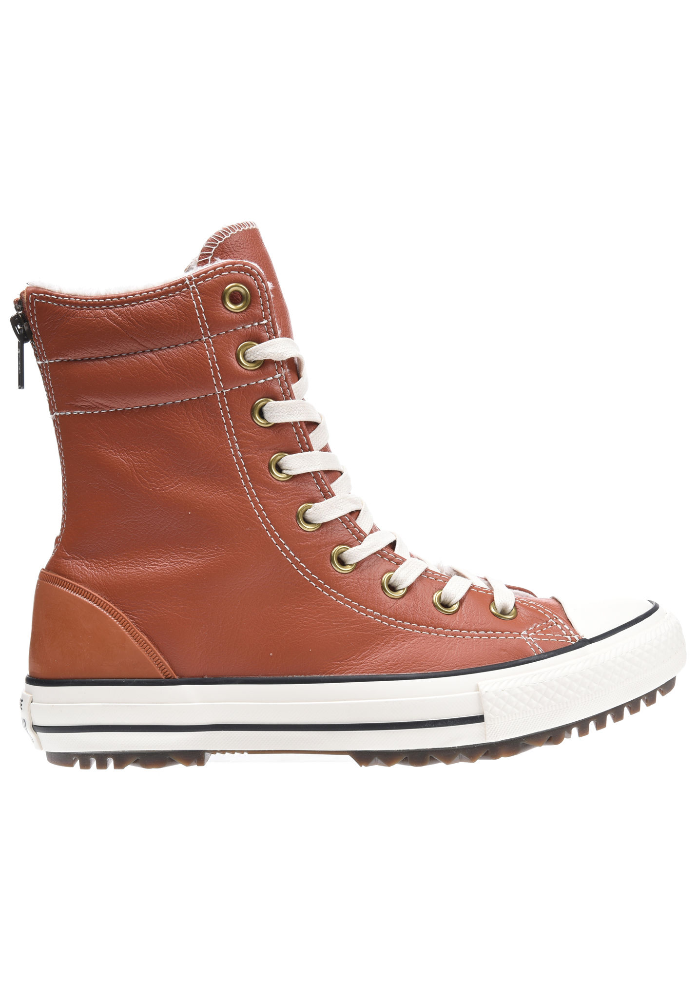 7eef3cd7042d94 Converse Chuck Taylor All Star Hi-Rise Lthr - Boots for Women - Brown -  Planet Sports