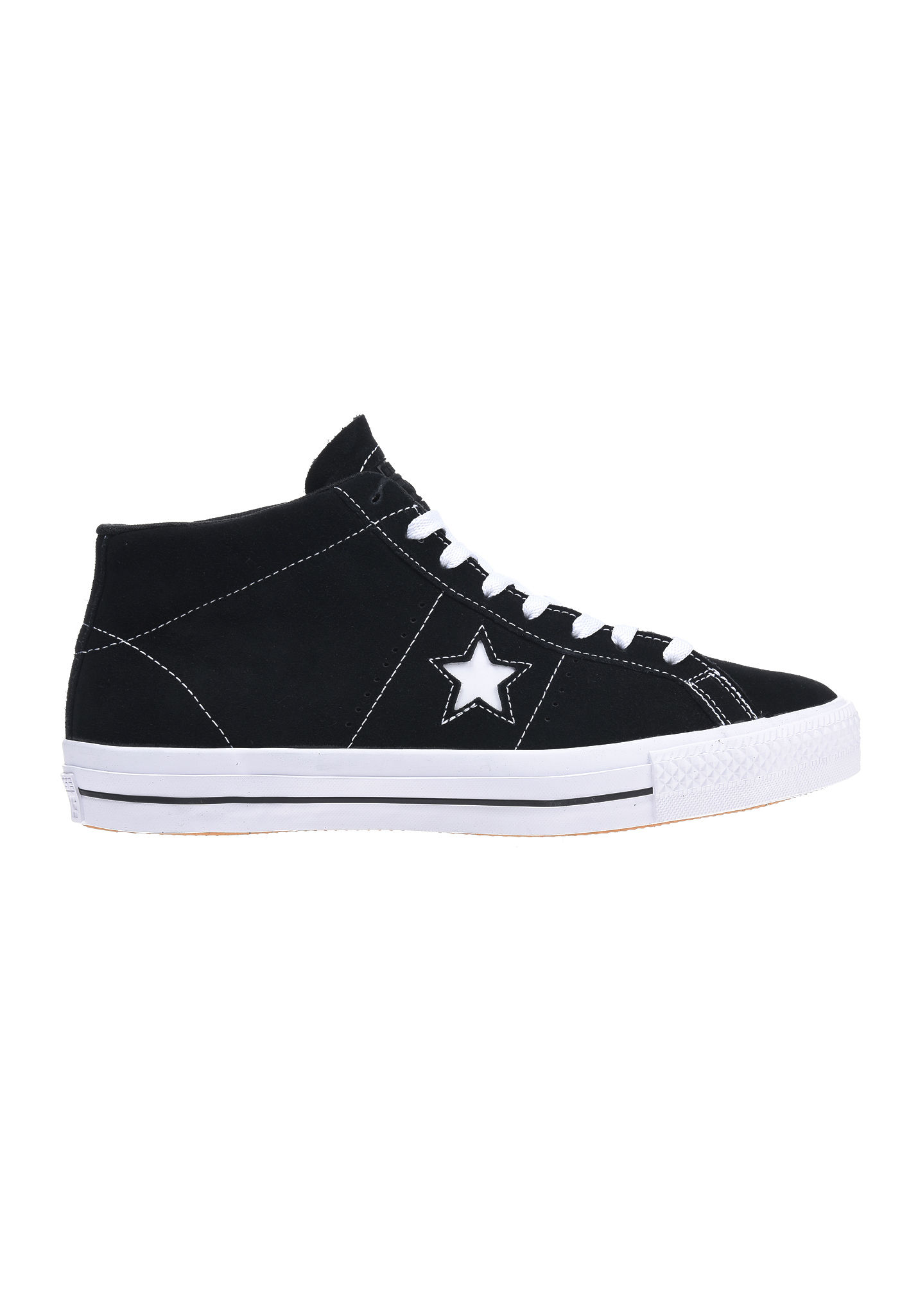 Converse One Star Pro Suede Mid Baskets Noir