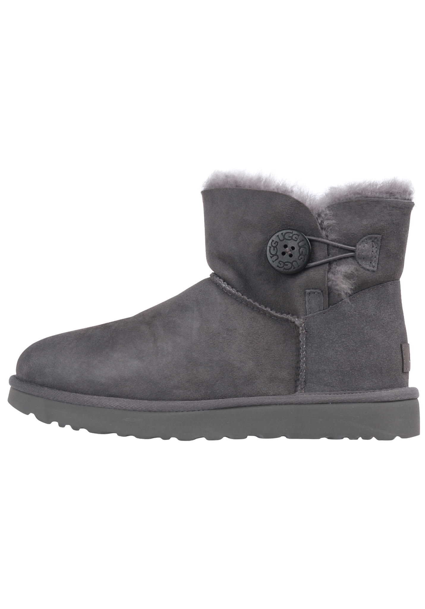 0e9a9be7976 UGG Mini Bailey Button II - Boots for Women - Grey