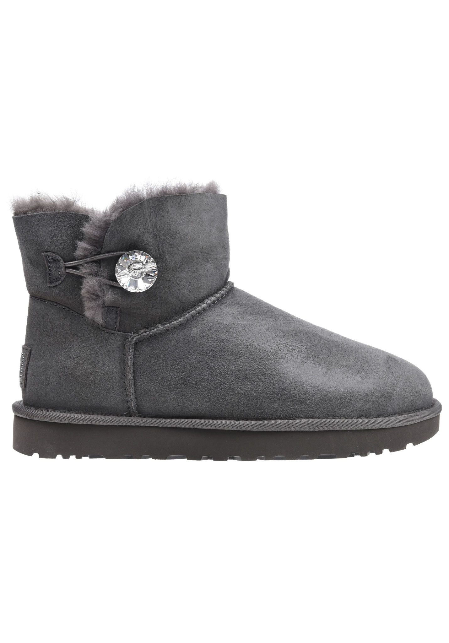 Ugg Mini Bailey Button Bling Grau