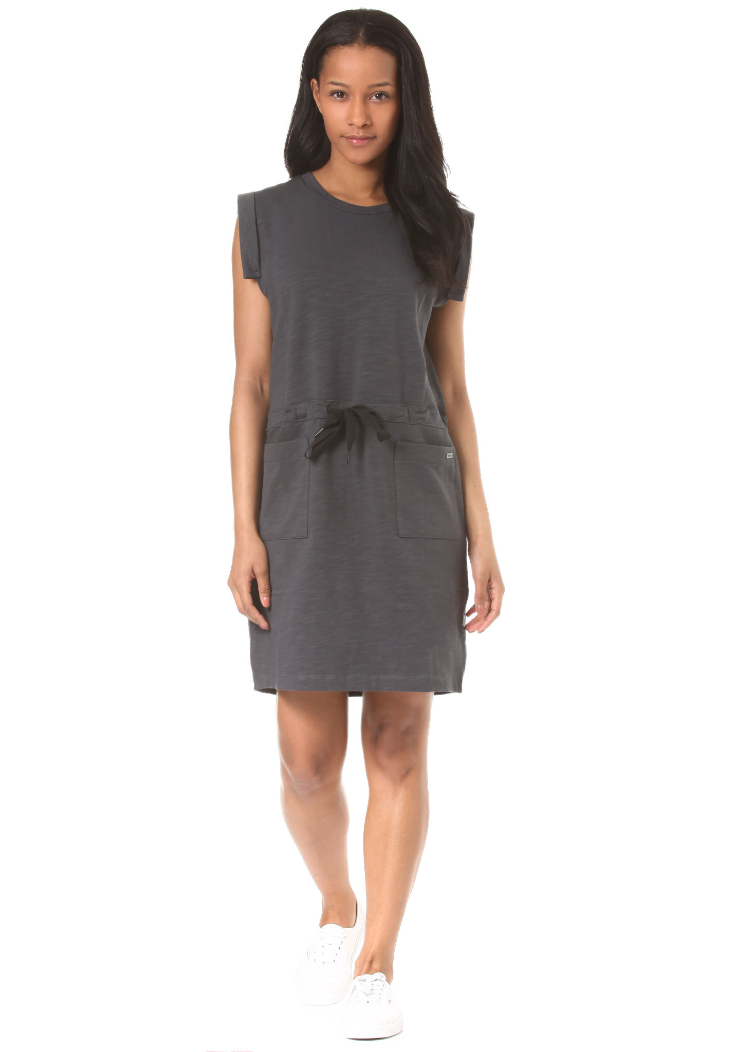 Womens Drawcord Sweat Dress Bench