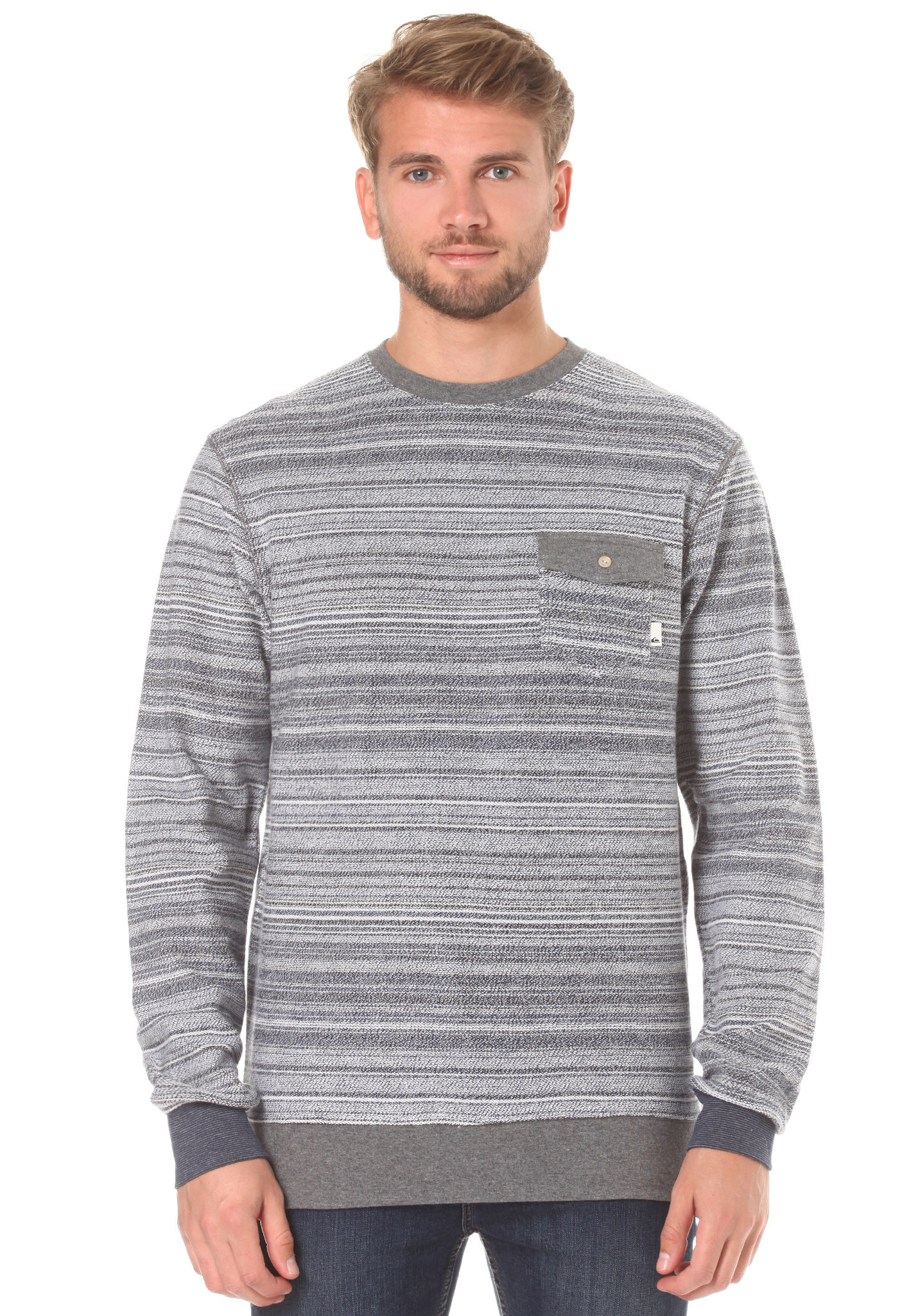 7f35b3b545c Quiksilver Carson Threes - Sweatshirt for Men - Grey - Planet Sports