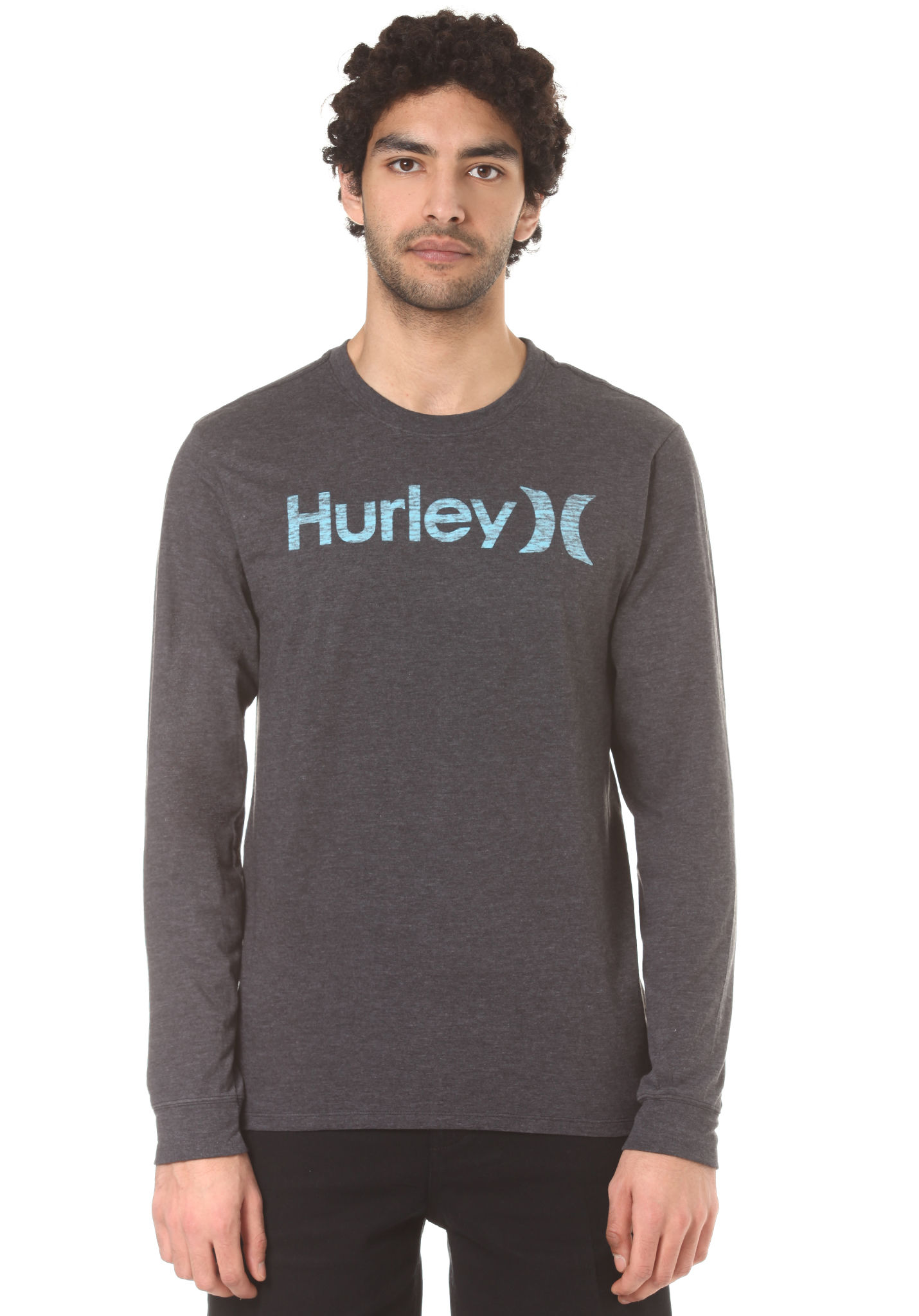 8c376cf394 Hurley One & Only Push Through - Long-sleeved Shirt for Men - Black -  Planet Sports