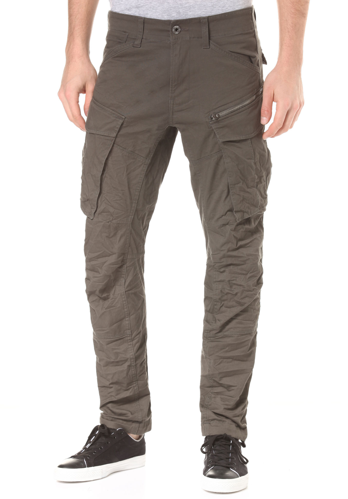 589b7d7f68ba G-STAR Rovic Zip 3D Straightapered - Cargo Pants for Men - Grey - Planet  Sports