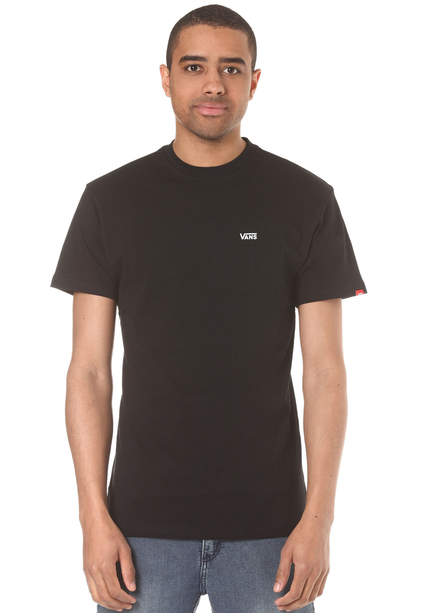 974a801ef74759 Vans Left Chest Logo - T-Shirt for Men - Black - Planet Sports