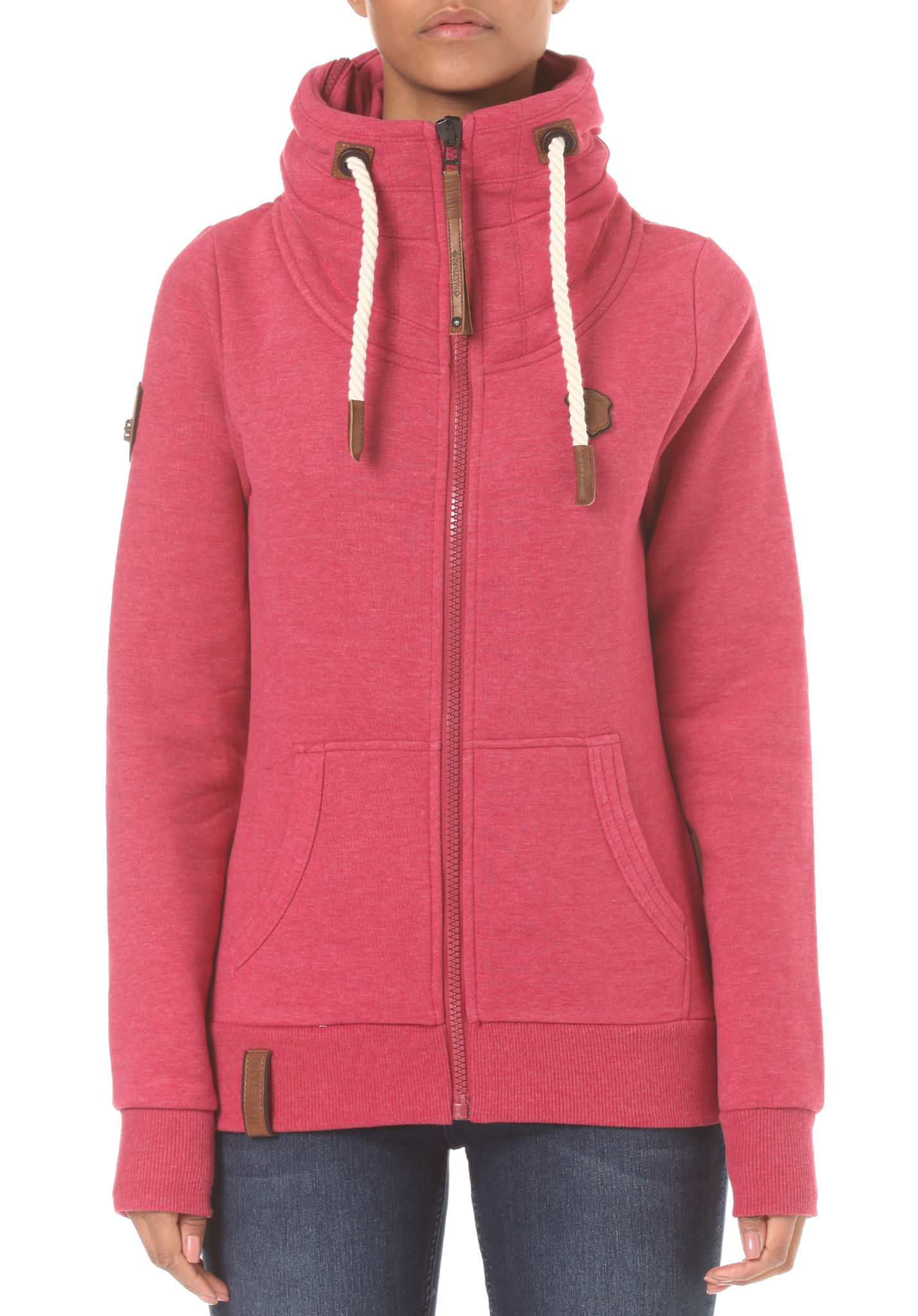 9f42a238114a NAKETANO Monsterbumserin VII - Sweat Jacket for Women - Pink - Planet Sports