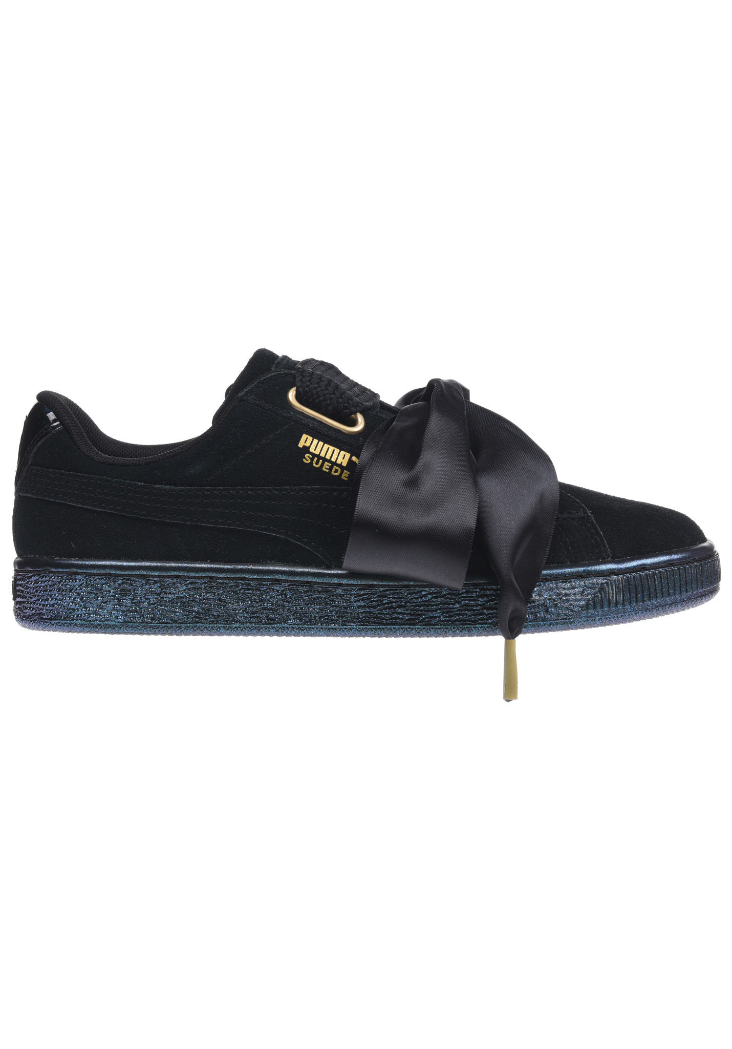 differently fe360 13dec Puma Suede Heart Satin - Baskets pour Femme - Noir - Planet Sports