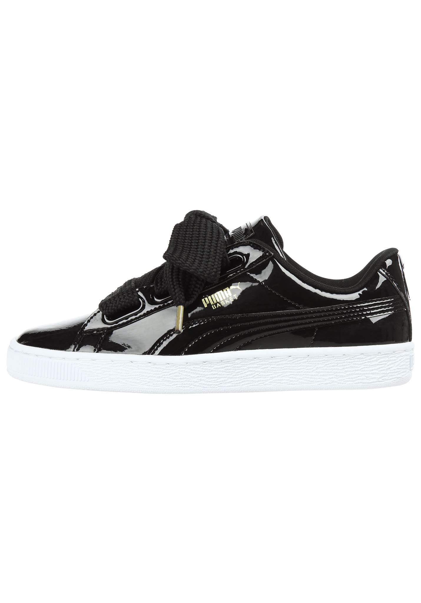 size 40 73bb4 034ea Puma Basket Heart Patent - Sneakers for Women - Black