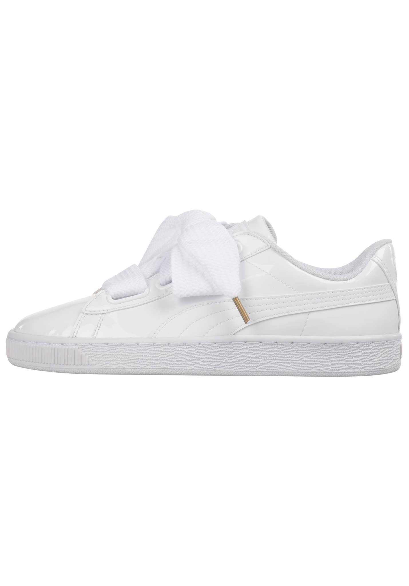 Puma Basket Heart Patent - Sneakers for Women - White - Planet Sports 305c0a5e5