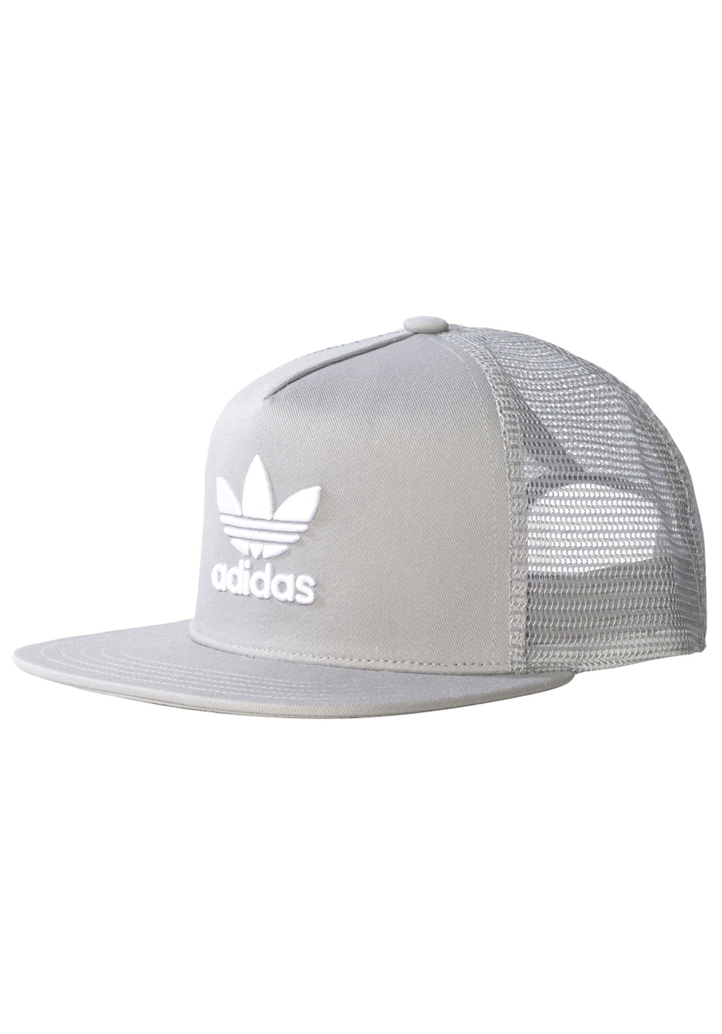 ADIDAS ORIGINALS Trefoil - Trucker Cap - Grey - Planet Sports 305f4c6c5bf