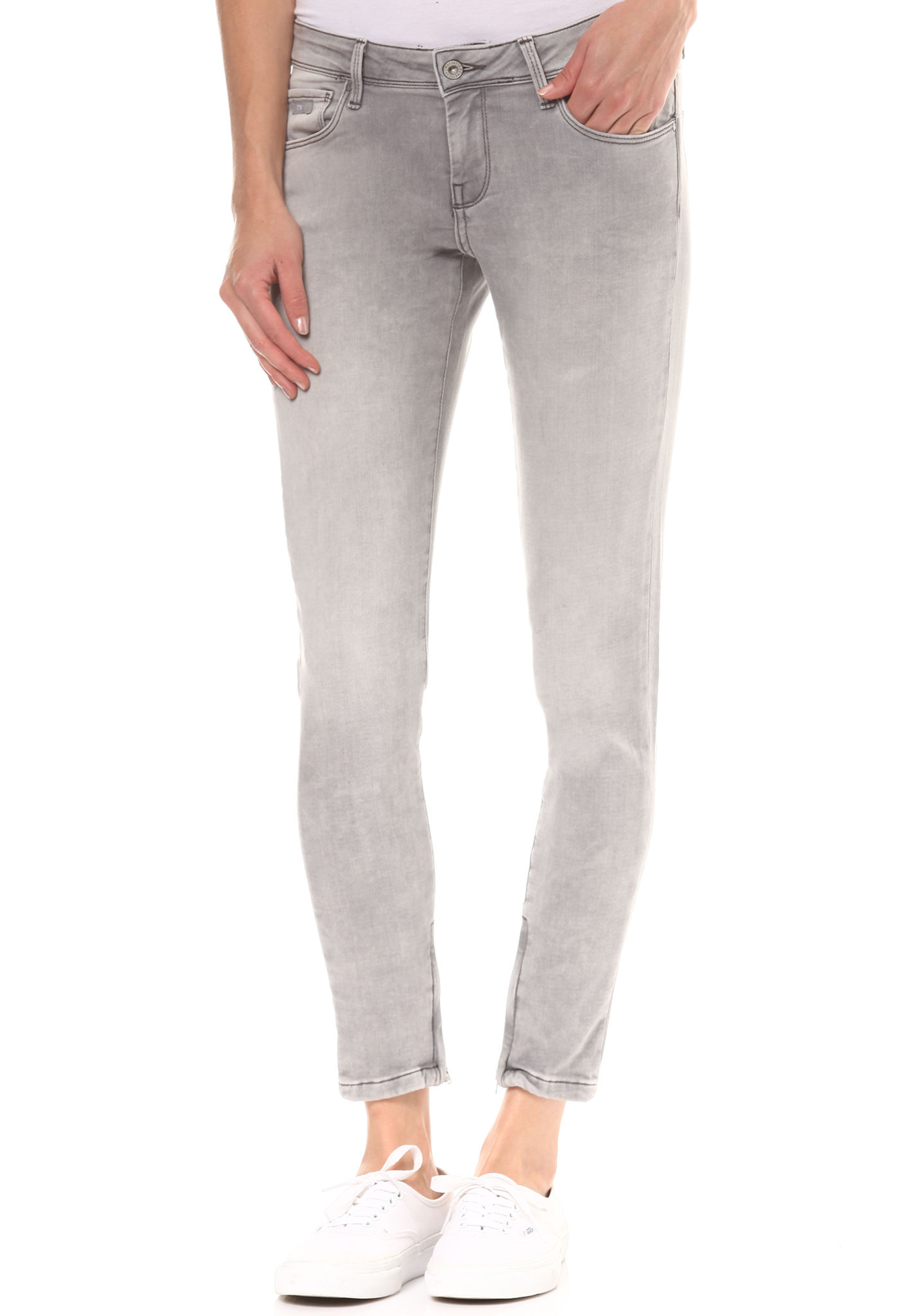 a4497c25d52b PEPE JEANS Cher - Denim Jeans for Women - Grey - Planet Sports