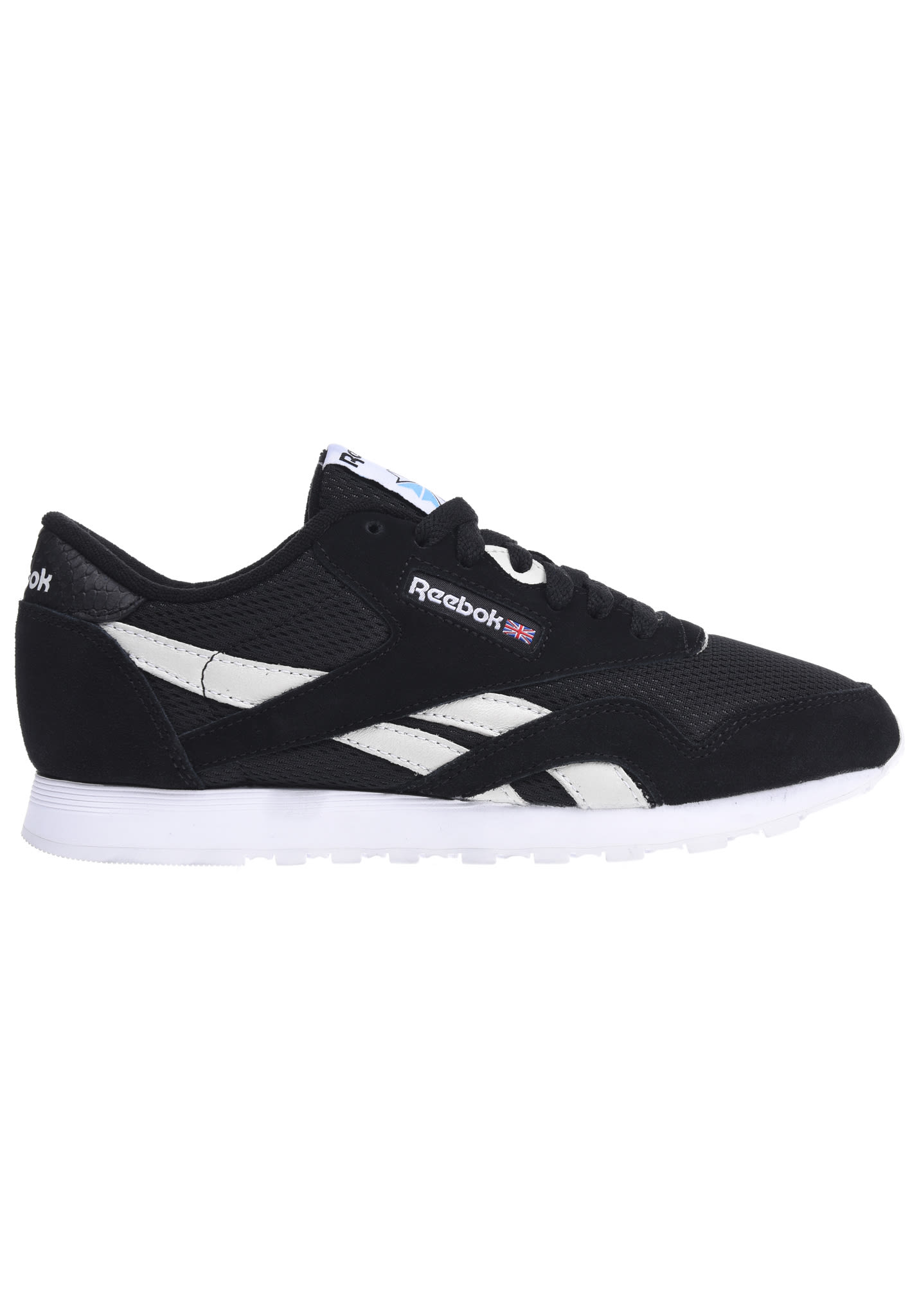 Classic Nylon FBT, Zapatillas para Mujer, Negro (Black/White/C.Blue/Electric Flash), 38 EU Reebok