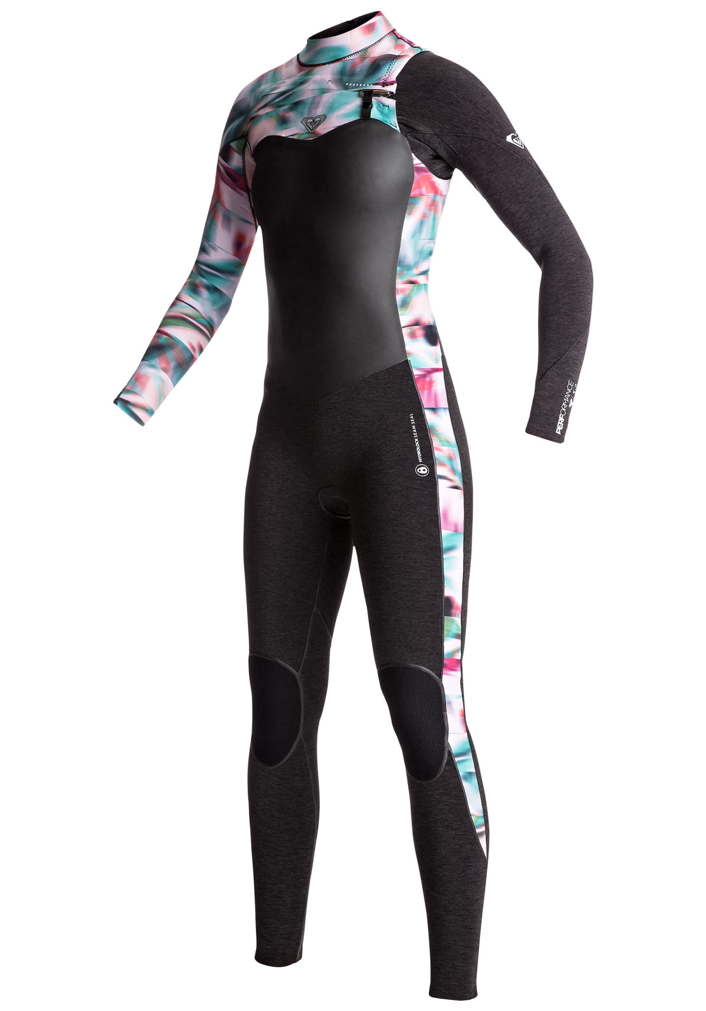 aeb0f48015 Roxy Performance 3 2mm Chest Zip - Wetsuit for Women - Black - Planet Sports