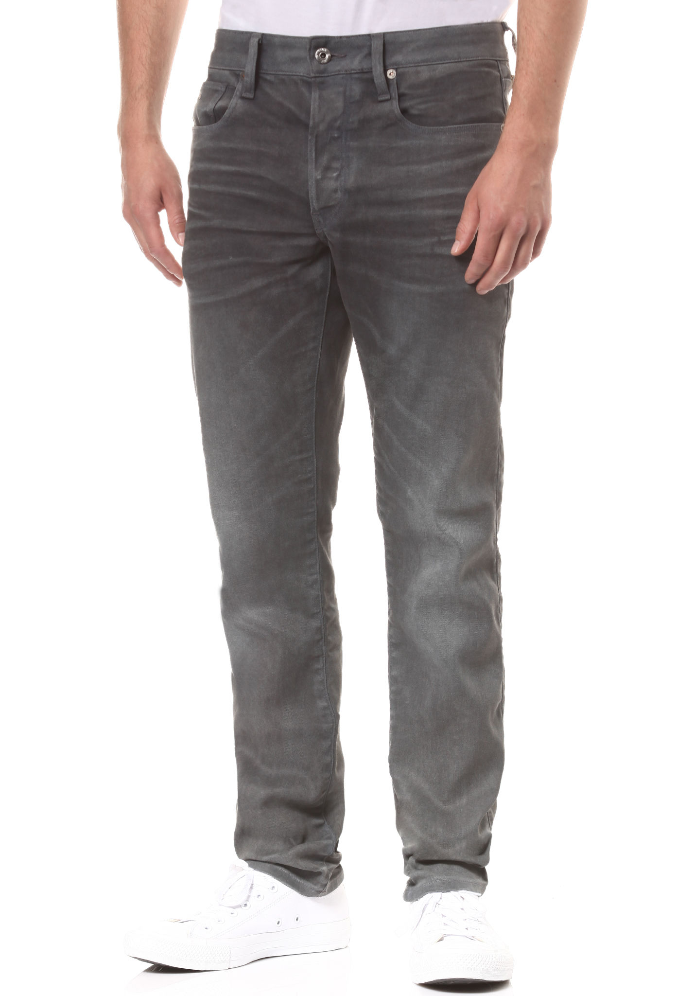60cee6feef4bac G-STAR 3301 Slim-Loomer Stretch - Denim Jeans for Men - Grey - Planet Sports