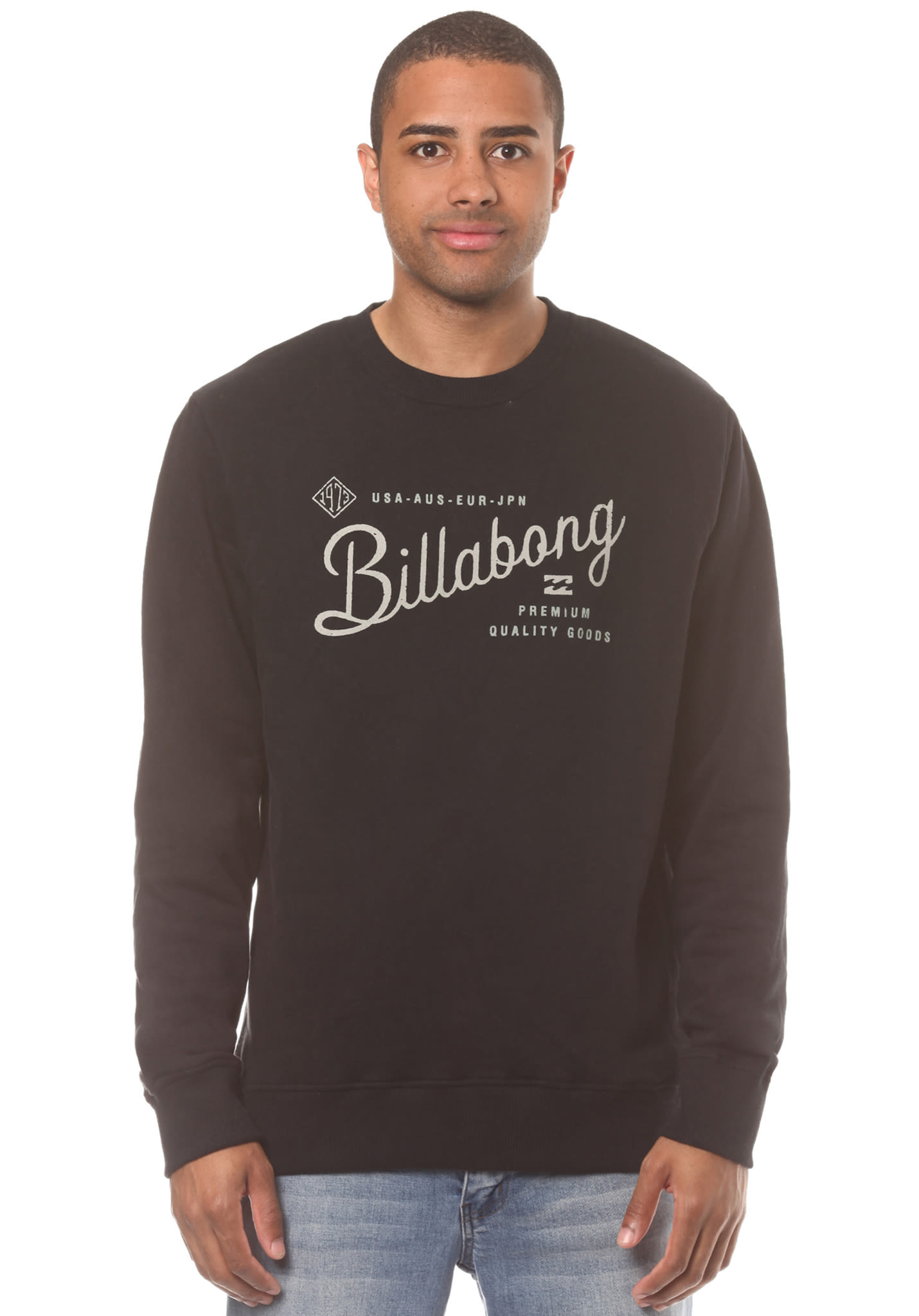 Home clothing mens clothing dragon furnace longsleeve t - Billabong Wilcox Crew Sweatshirt For Men Black