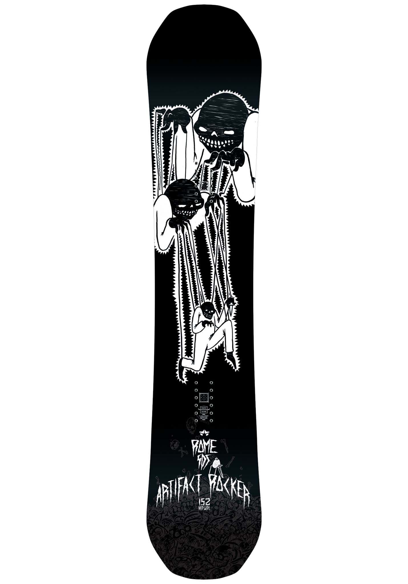 8b7a8630eca ROME Artifact Rocker wide 152cm - Snowboard for Men - Black - Planet Sports