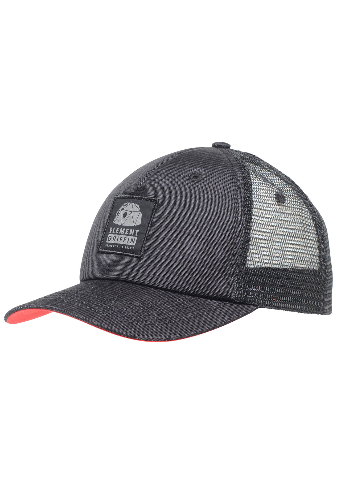 Element Griffin Mesh Back Ca - Trucker Cap for Men - Black - Planet Sports 739996a91a62
