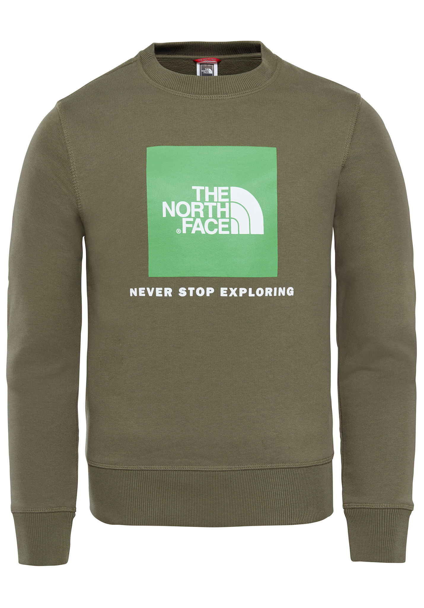 18412af4d THE NORTH FACE Box Crew - Sweatshirt - Green - Planet Sports