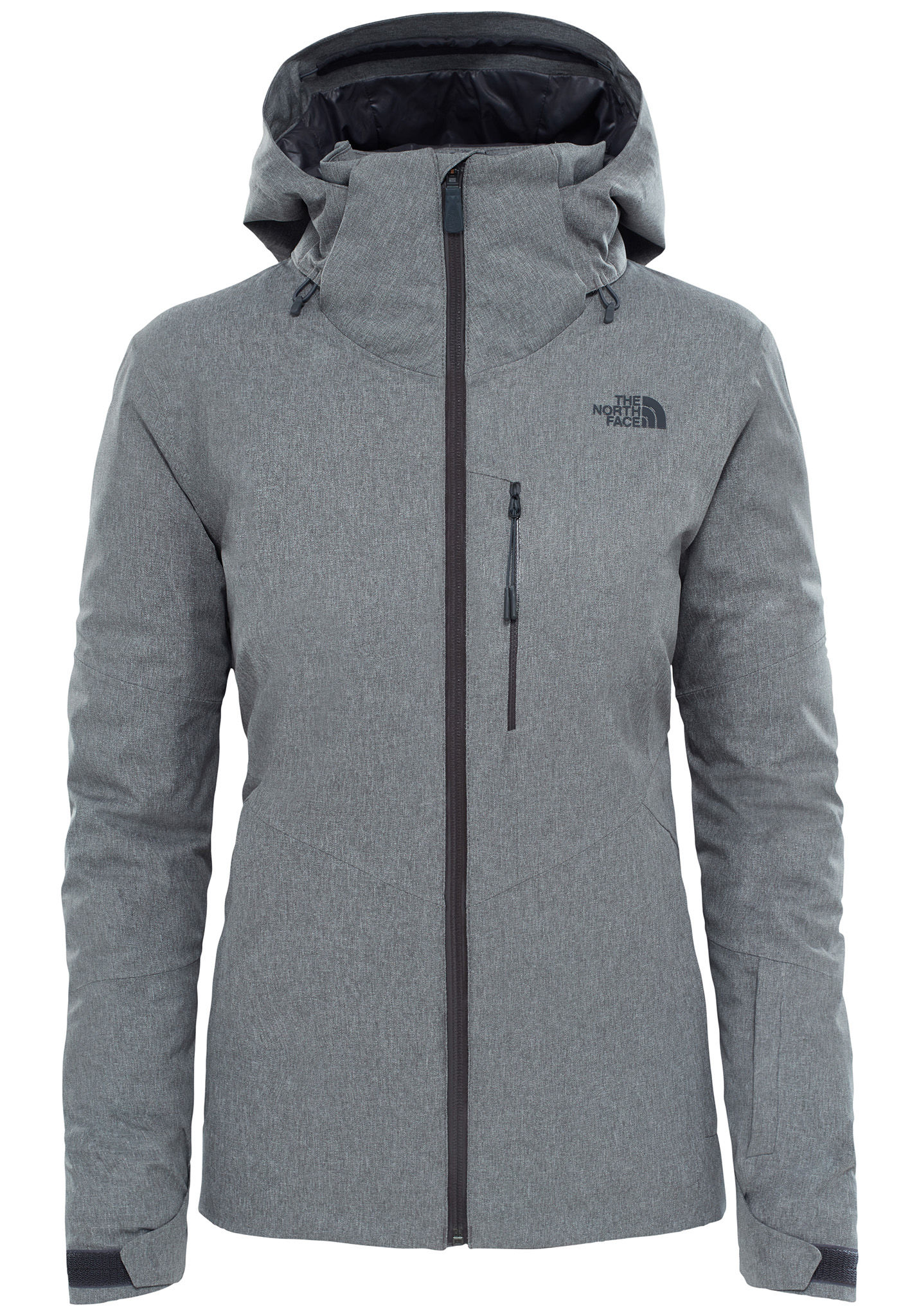 north face chaqueta gris mujer