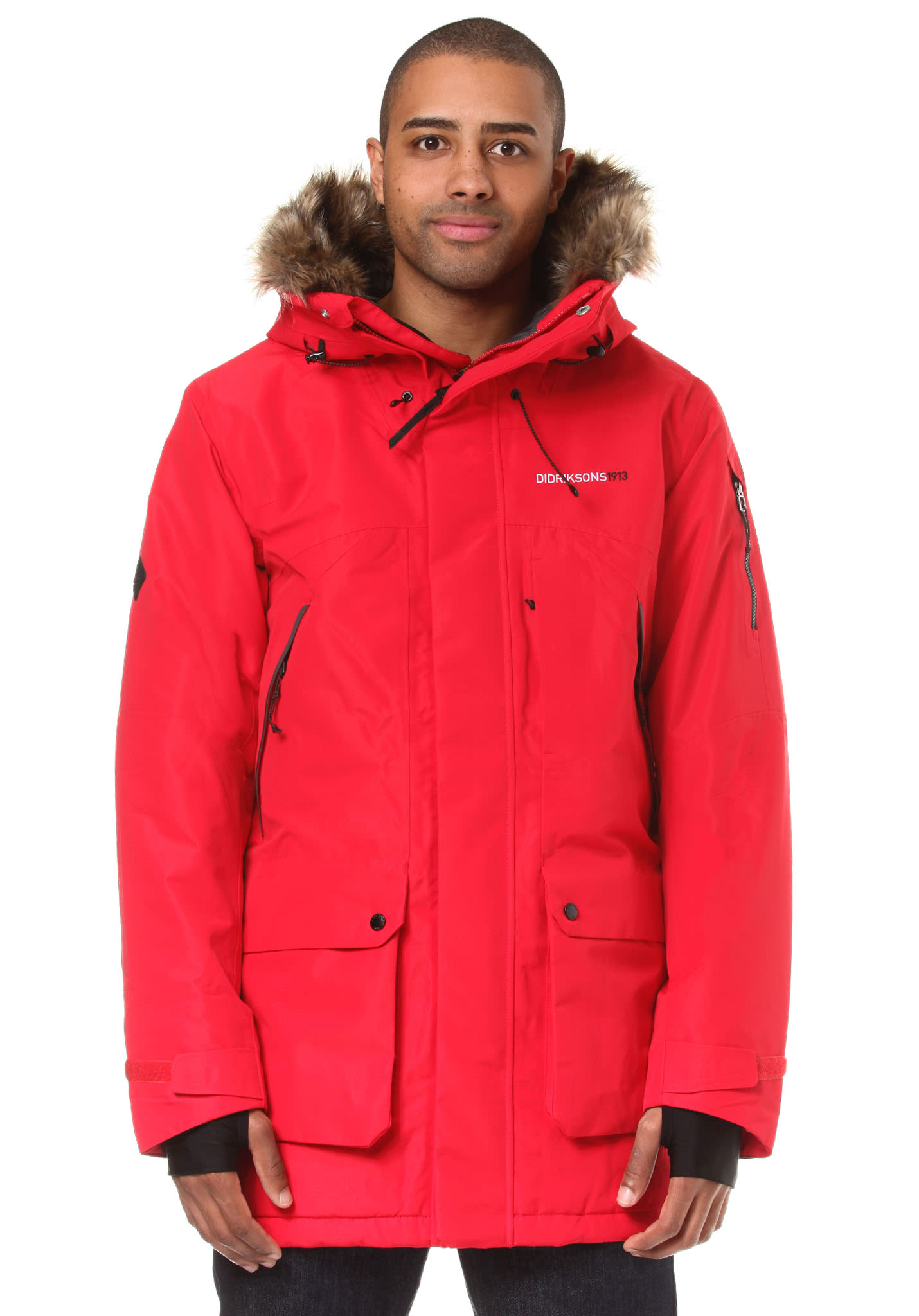 Didriksons Marcel Parka - Jacket for Men - Red - Planet Sports