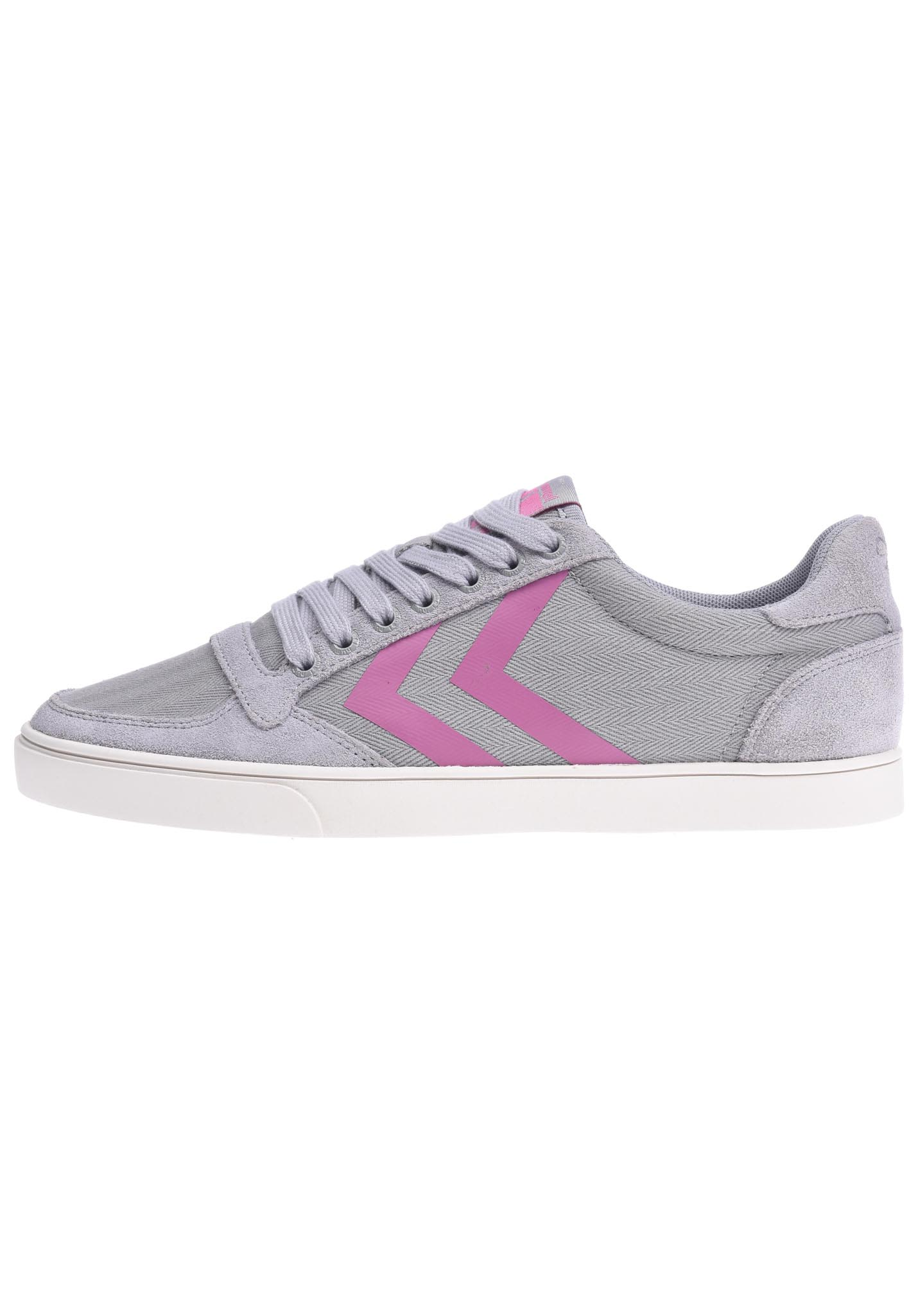 Womens Slimmer Stadil Hb Low Trainers, Grey Hummel