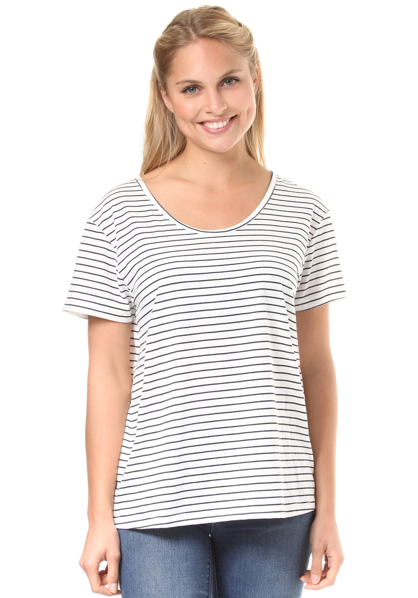 79bcd86ab0f26b Roxy Just Simple Stripes - T-Shirt for Women - Blue - Planet Sports