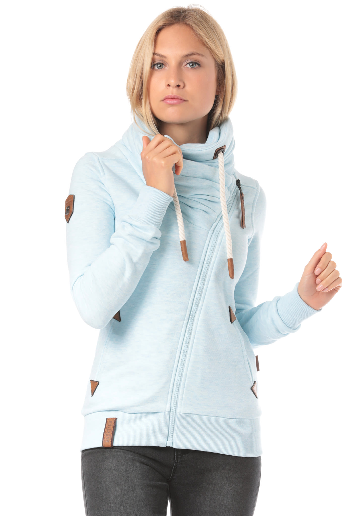 d8d007224a NAKETANO Jedi Path - Sweat à fermeture éclair pour Femme - Bleu - Planet  Sports