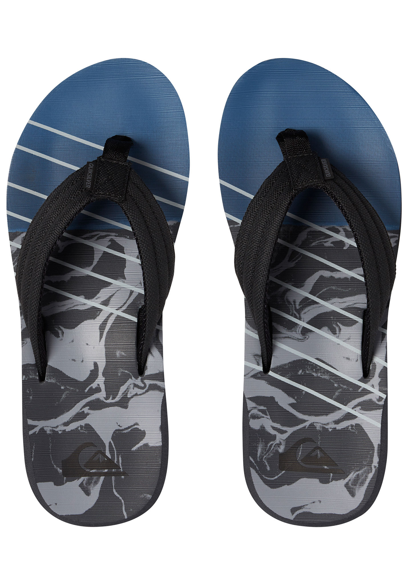 53a691e346 Quiksilver Carver Print - Sandals for Men - Black