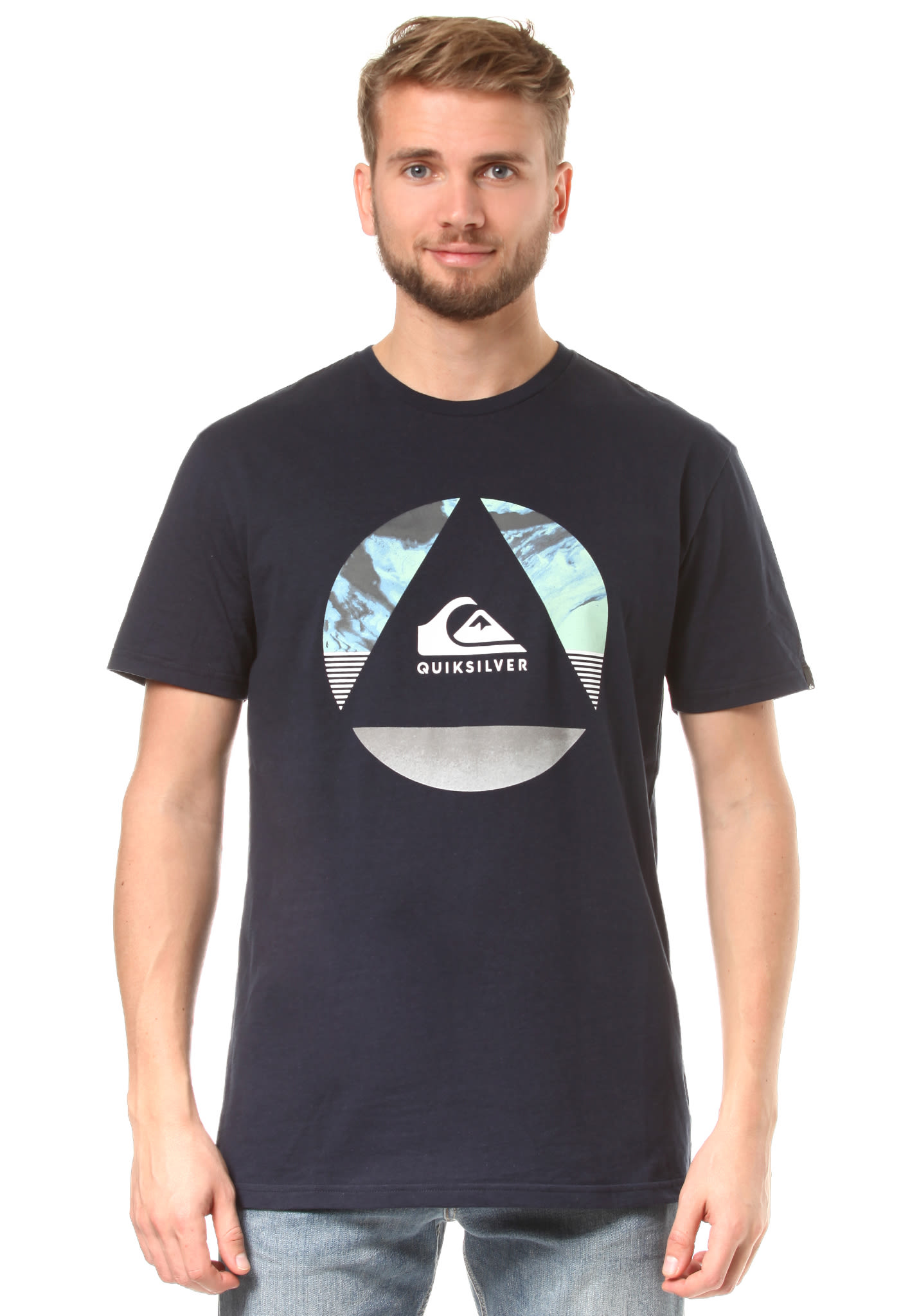 Quiksilver Classic Fluid Turns - T-Shirt for Men - Blue - Planet Sports 826bd74ba5