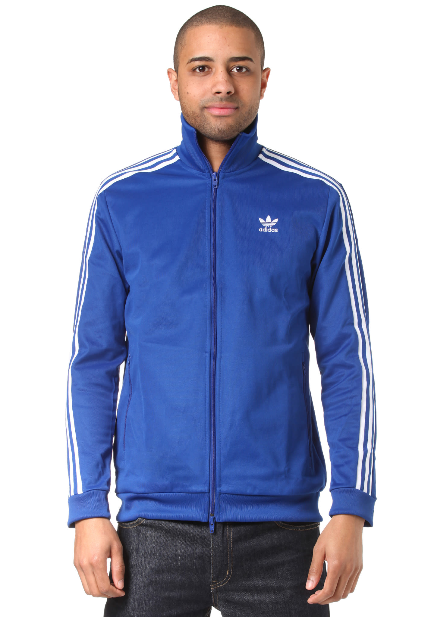 4ccf64341d8 ADIDAS ORIGINALS Beckenbauer - Track Top for Men - Blue - Planet Sports