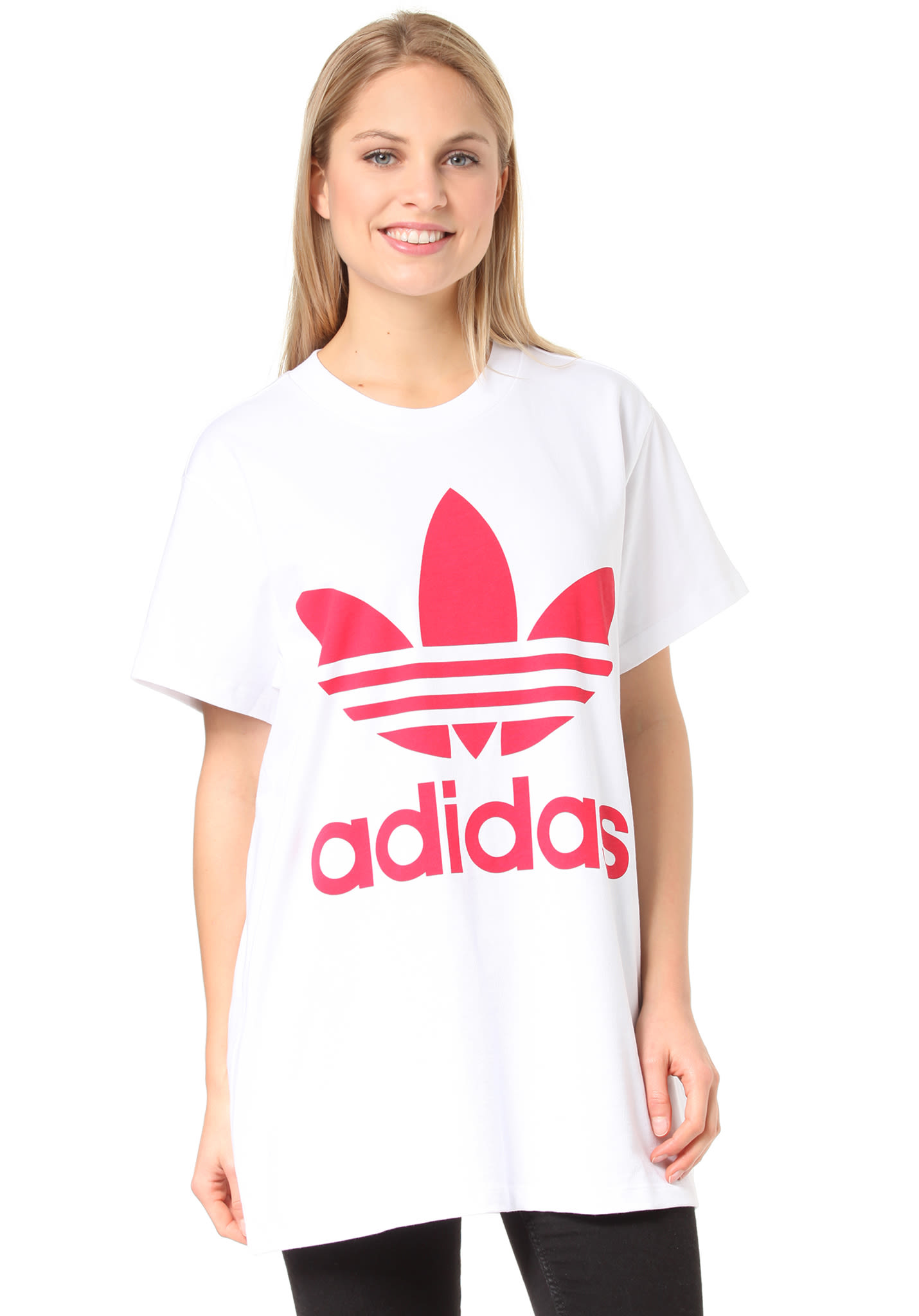 8cb57a9368dd ADIDAS ORIGINALS Big Trefoil - T-Shirt for Women - White - Planet Sports