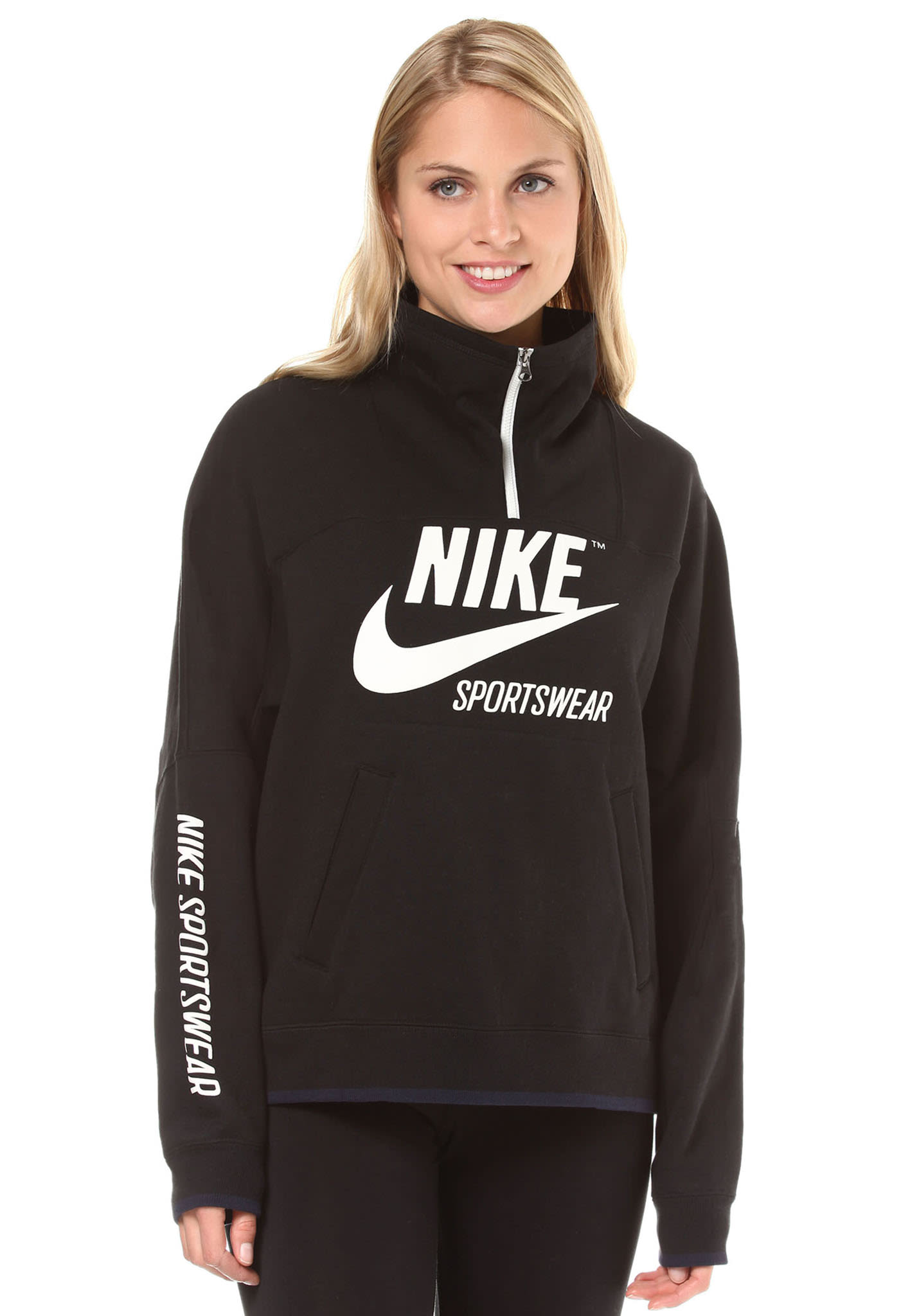 buy popular c0c42 0bef5 NIKE SPORTSWEAR Crew Archive - Sweatshirt for Women - Black - Planet Sports