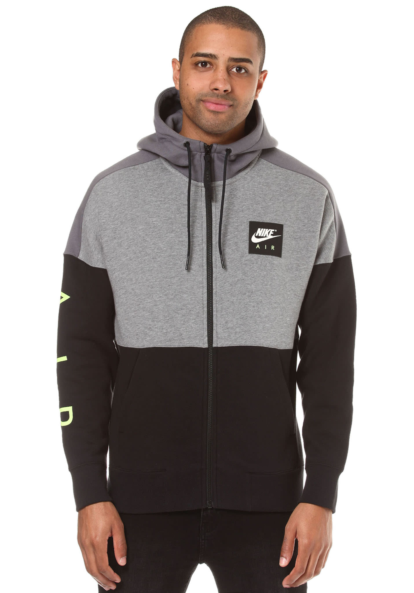 Nike Sportswear Air Fleece Hooded Jacket For Men Black Planet Jaket Abyss Dark Sports